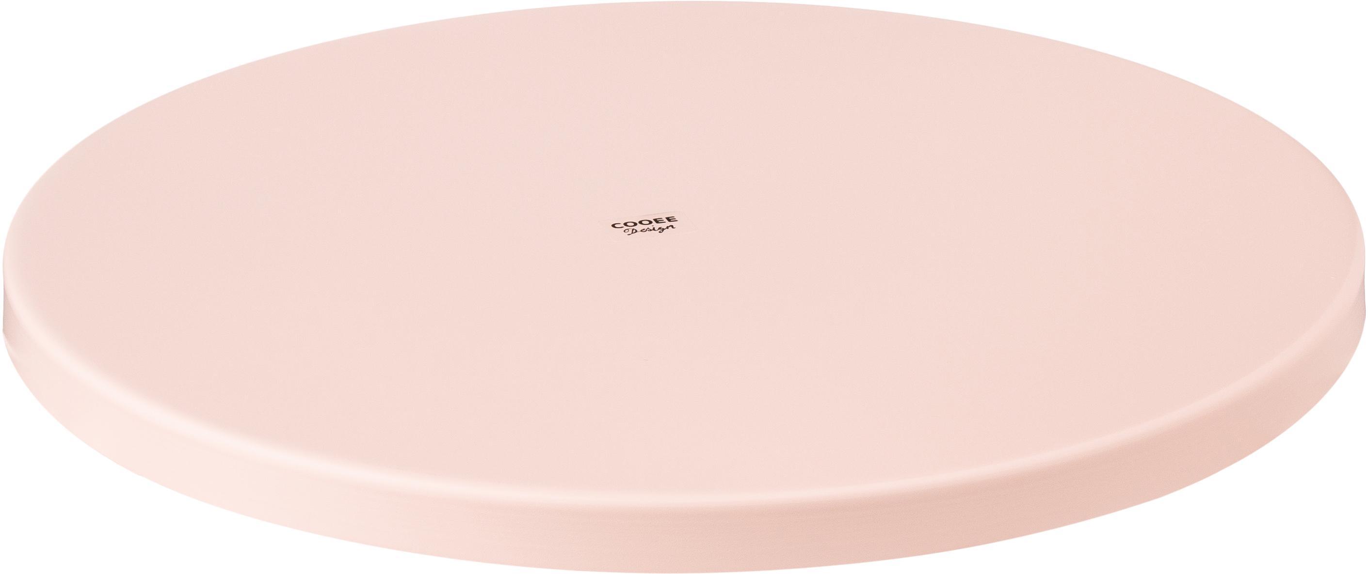 Decoratief dienblad Circle, Gepoedercoat edelstaal, Roze, Ø 30 x H 2 cm