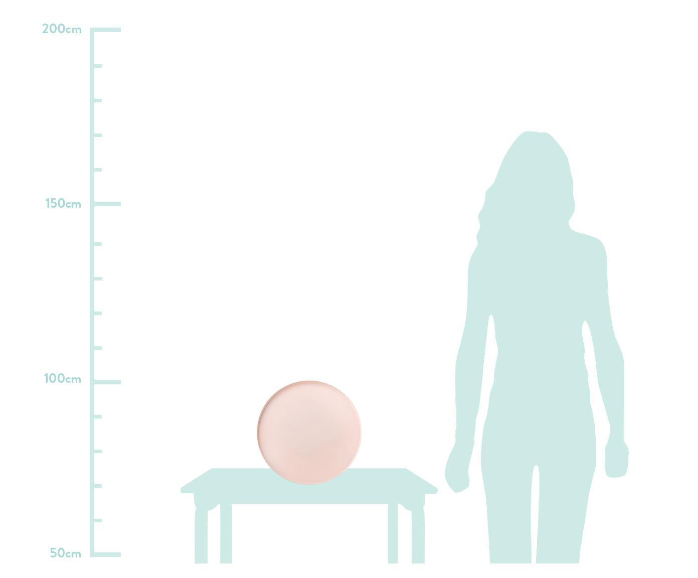 Deko-Tablett Circle, Edelstahl, pulverbeschichtet, Rosa, Ø 30 x H 2 cm