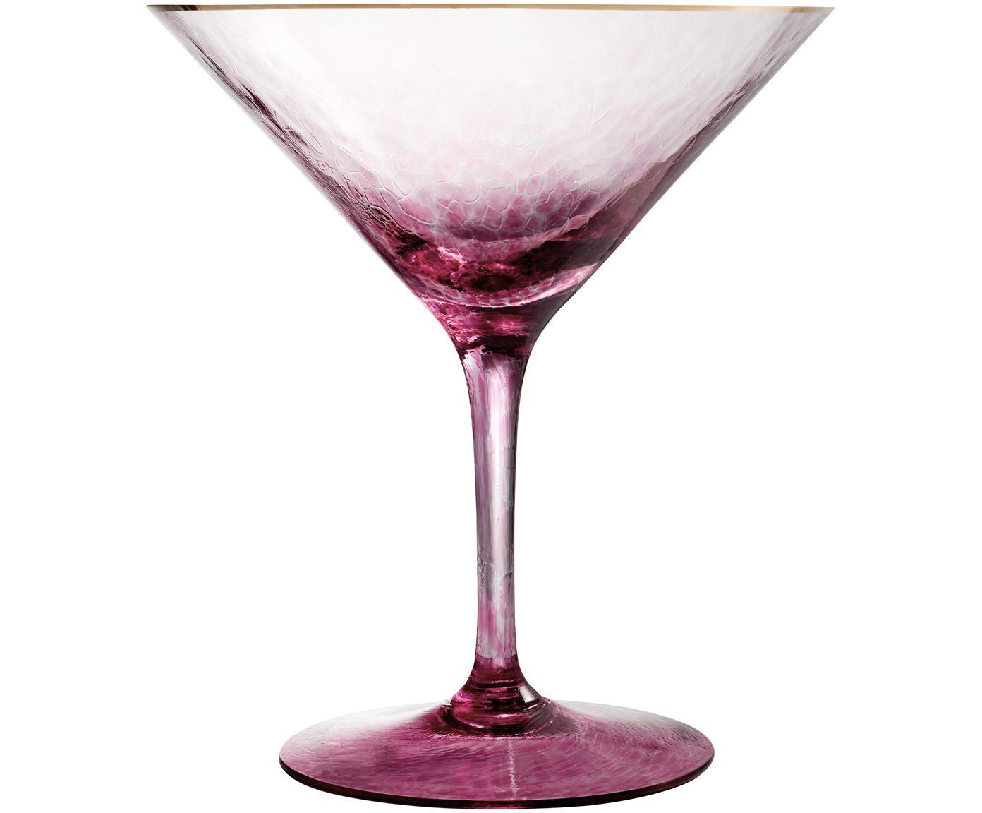 Martiniglas Rebel, Kristallglas, Pink, Ø 12 x H 14 cm