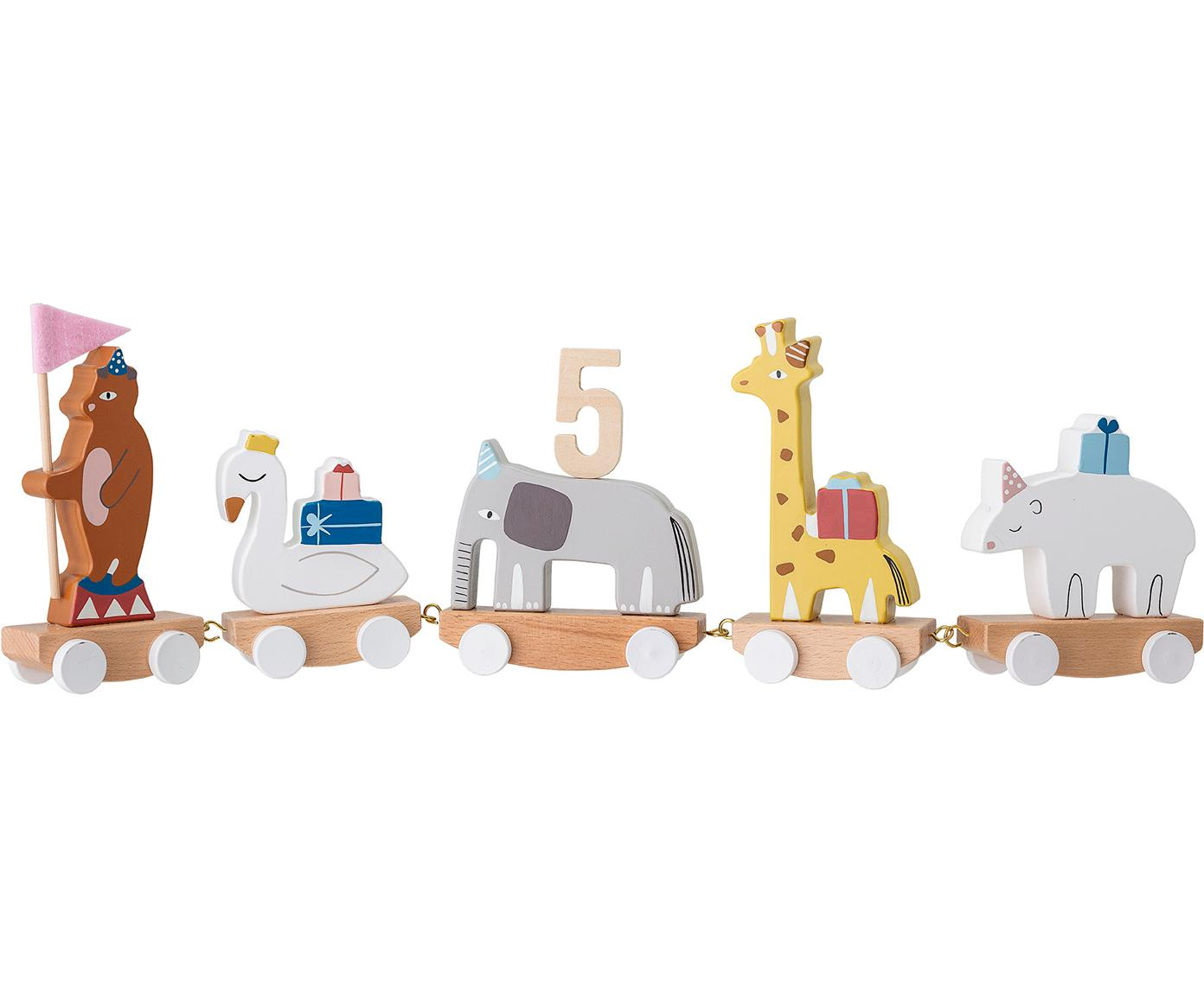 Decorazione di compleanno Happy Animals, Legno di faggio, pannelli di fibra a media densità (MDF), compensato, legno di loto, metallo, feltro, Multicolore, Larg. 50 x Alt. 16 cm