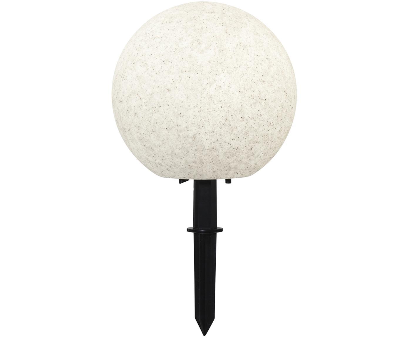 Lámpara LED de exterior Gardenlight, Plástico, Blanco, negro, Ø 29 x Al 30 cm
