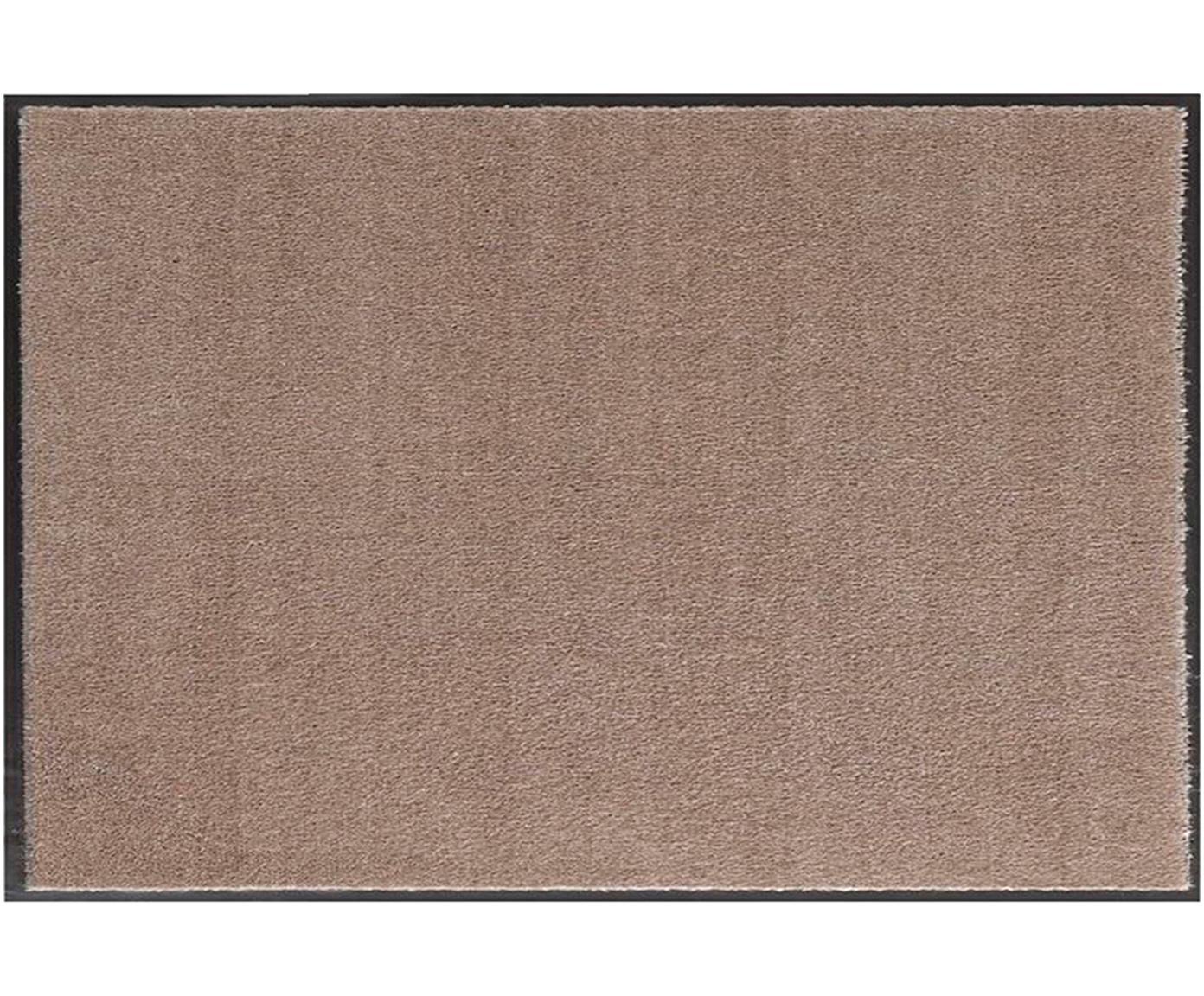 Polyamide deurmat Milo, Bovenzijde: polyamide, Onderzijde: rubber, Taupe, zwart, 39 x 58 cm
