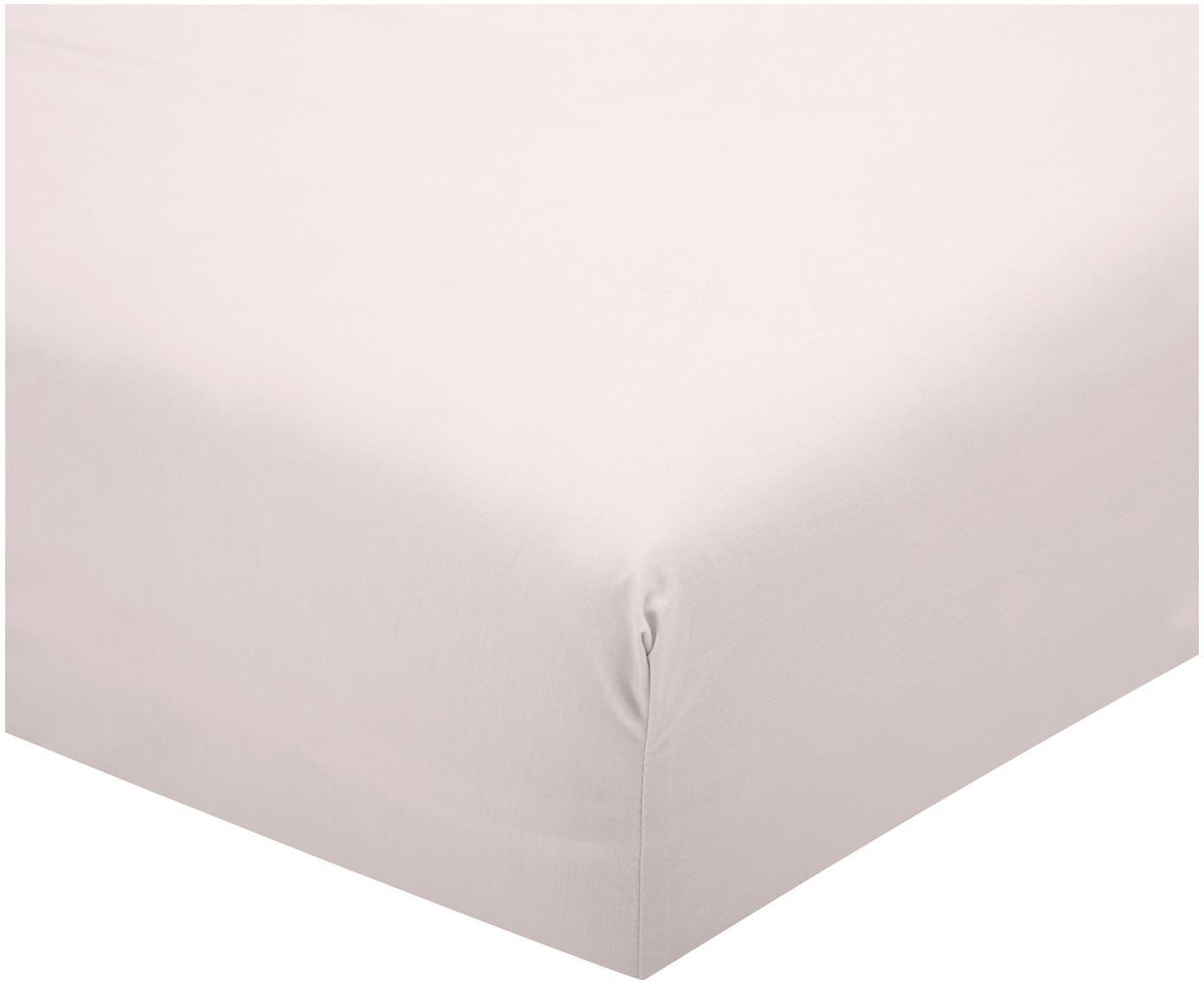 Perkal hoeslaken Elsie, Weeftechniek: perkal, Roze, 90 x 200 cm