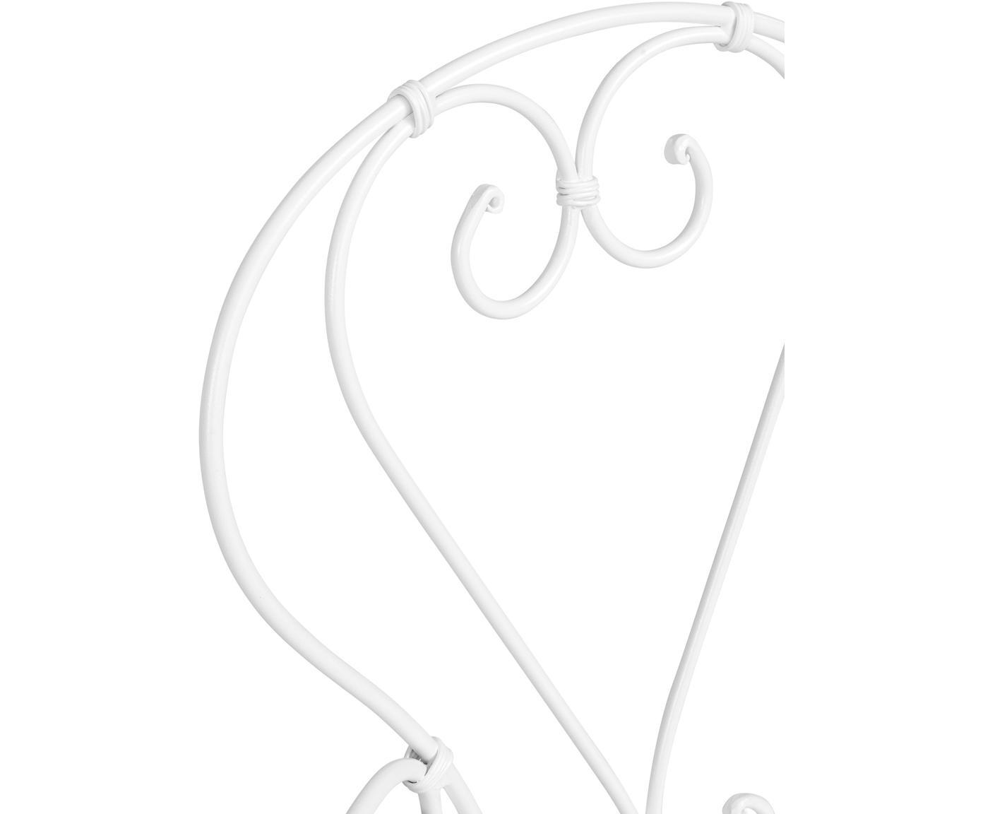 Stoel Century, Gepoedercoat metaal, Wit, B 49 x D 53 cm