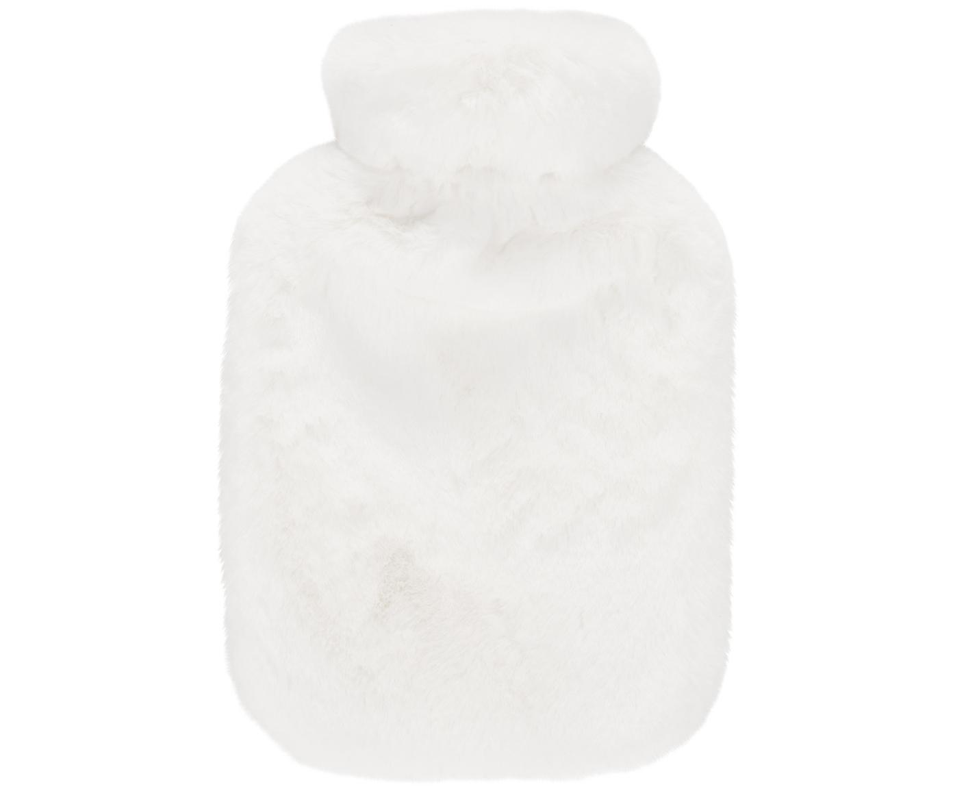Borsa per acqua calda in pelliccia sintetica Mette, Rivestimento: 100% poliestere, Crema, Larg. 23 x Lung. 35 cm