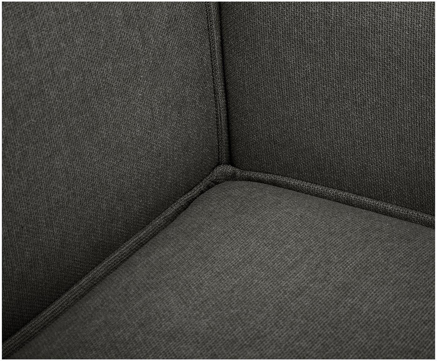 Sofa modułowa Lennon, Tapicerka: poliester 35 000 cykli w , Stelaż: lite drewno sosnowe, skle, Nogi: tworzywo sztuczne, Antracytowy, S 326 x G 207 cm