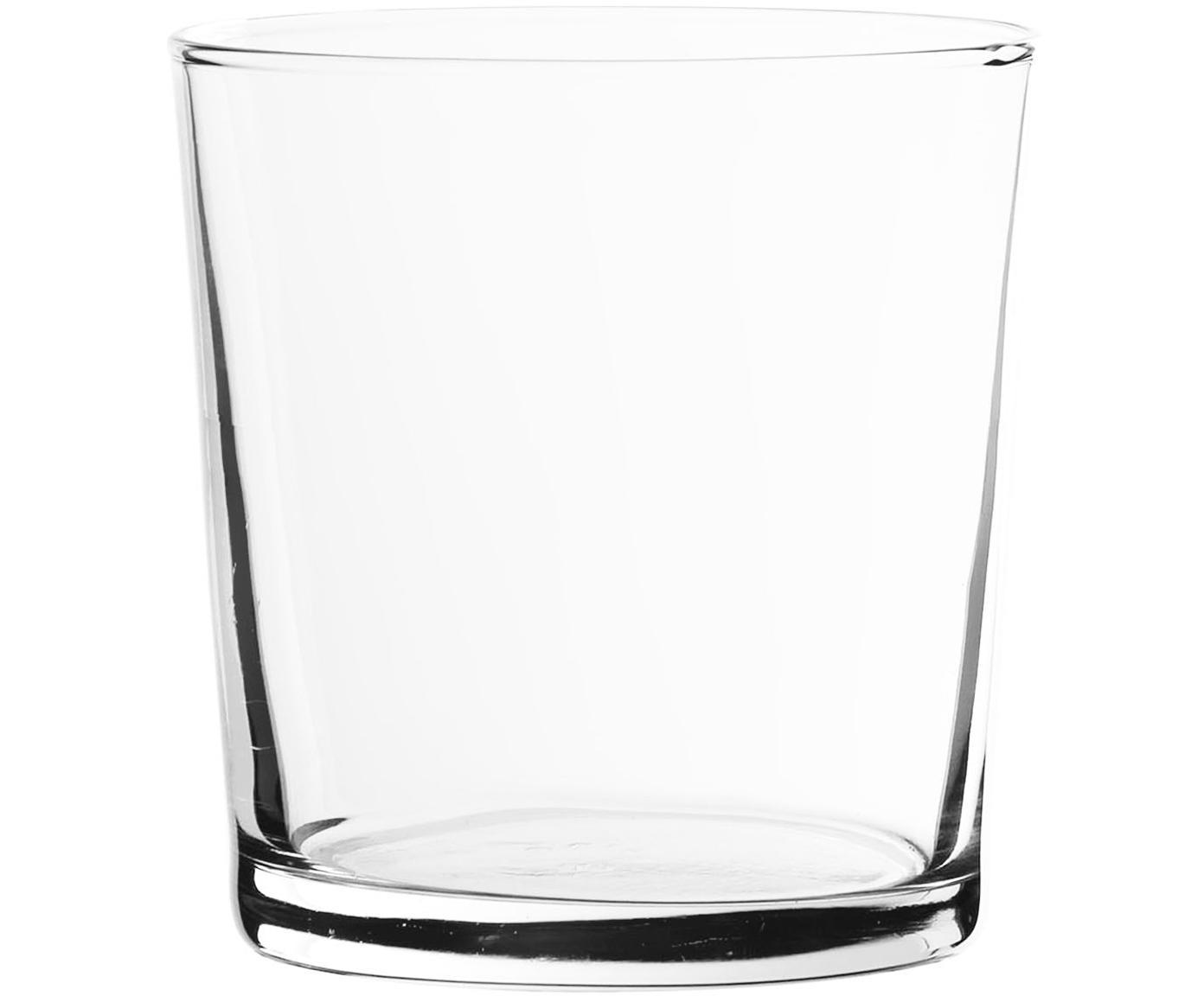 Vasos clásicos Simple, 6uds., Vidrio, Transparente, 370 ml