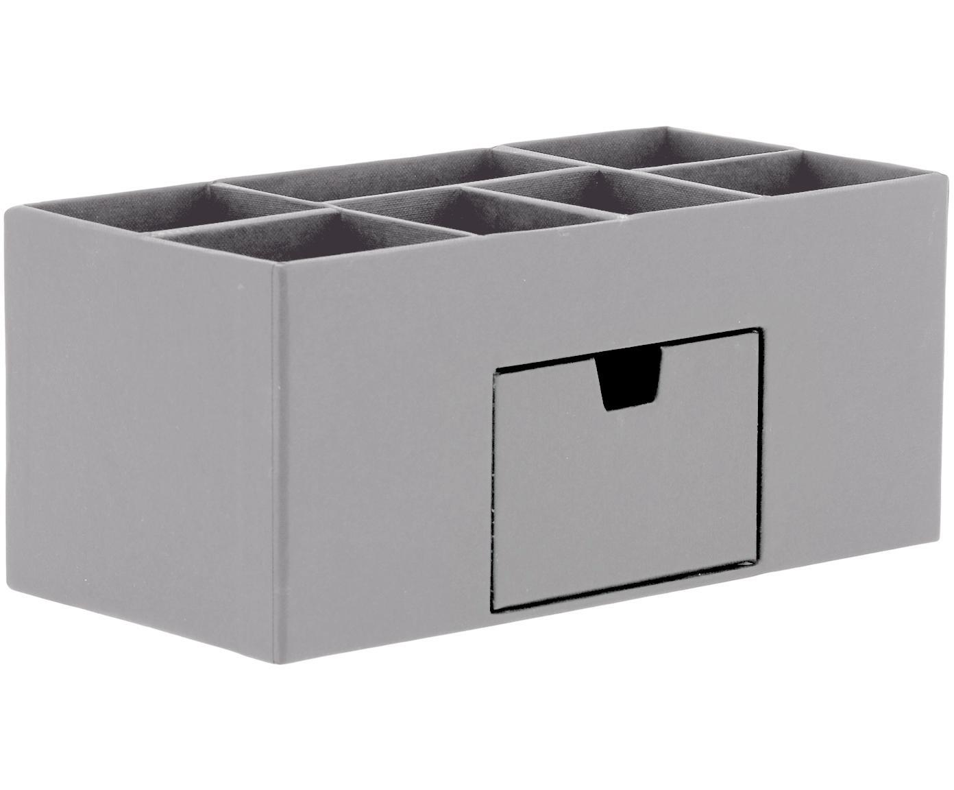 Organizer da ufficio Vendela, Cartone solido e laminato, Grigio, Larg. 24 x Alt. 11 cm