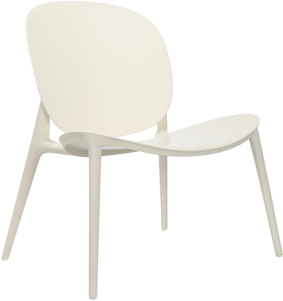 Sillón de plástico Be Bop, Polipropileno modificado, Blanco, An 69 x F 62 cm