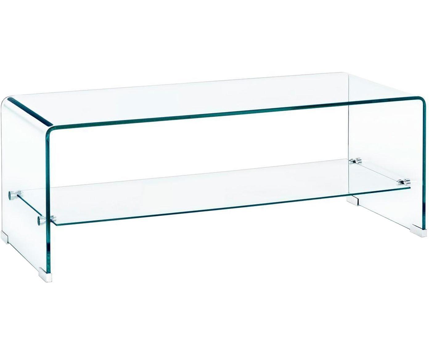 Mesa de centro Iride, Vidrio, Transparente, An 100 x Al 38 cm