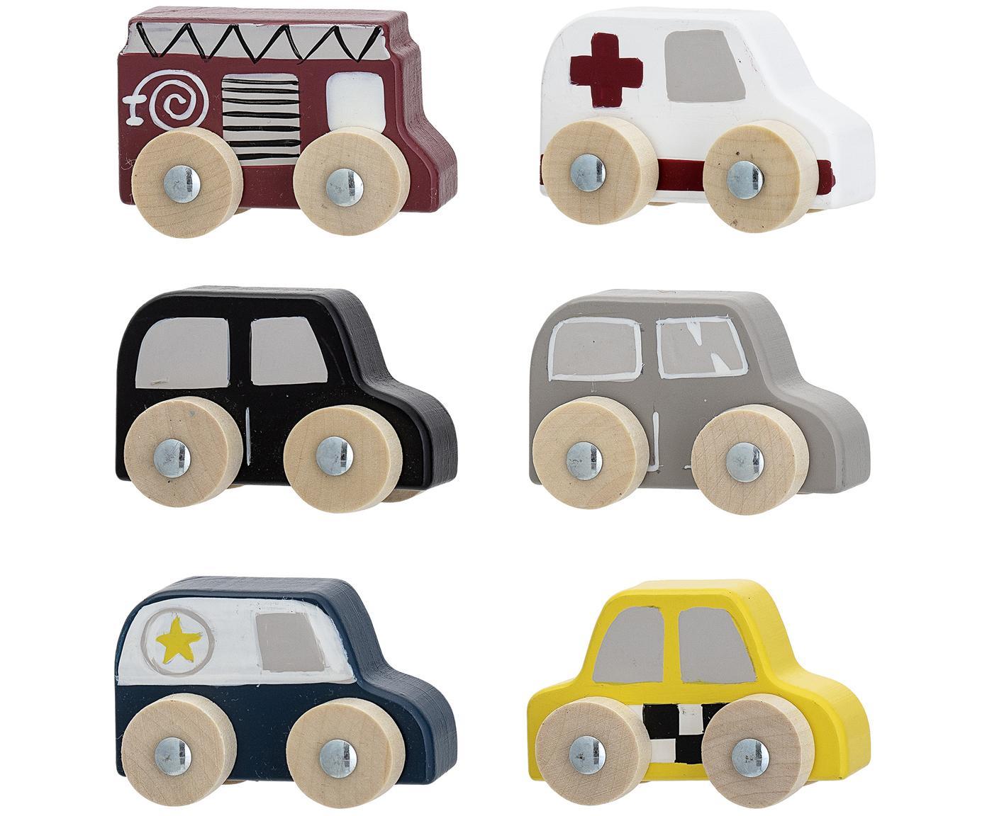 Spielzeugauto-Set Car, 6-tlg., Mitteldichte Holzfaserplatte (MDF), Lotusbaumholz, Mehrfarbig, 20 x 23 cm