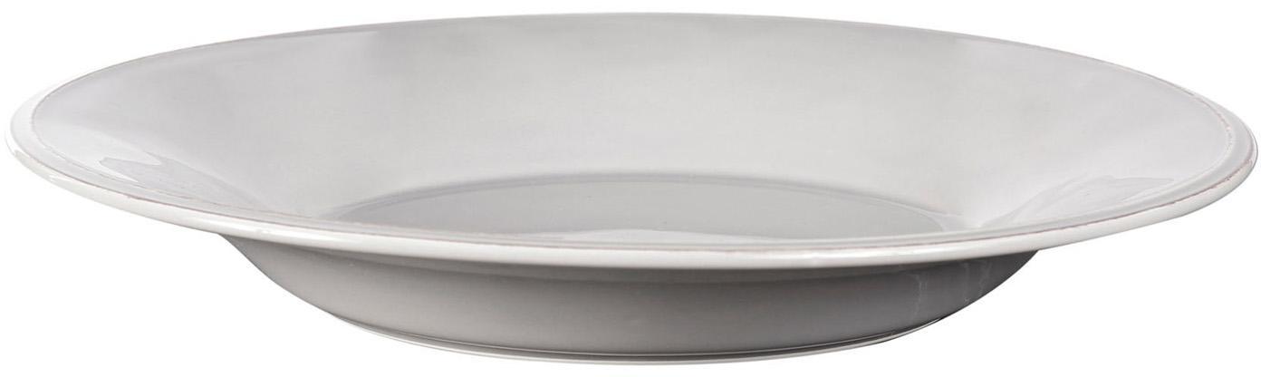 Piatto fondo grigio chiaro Constance 2 pz, Terracotta, Grigio chiaro, Ø 27 x Alt. 4 cm