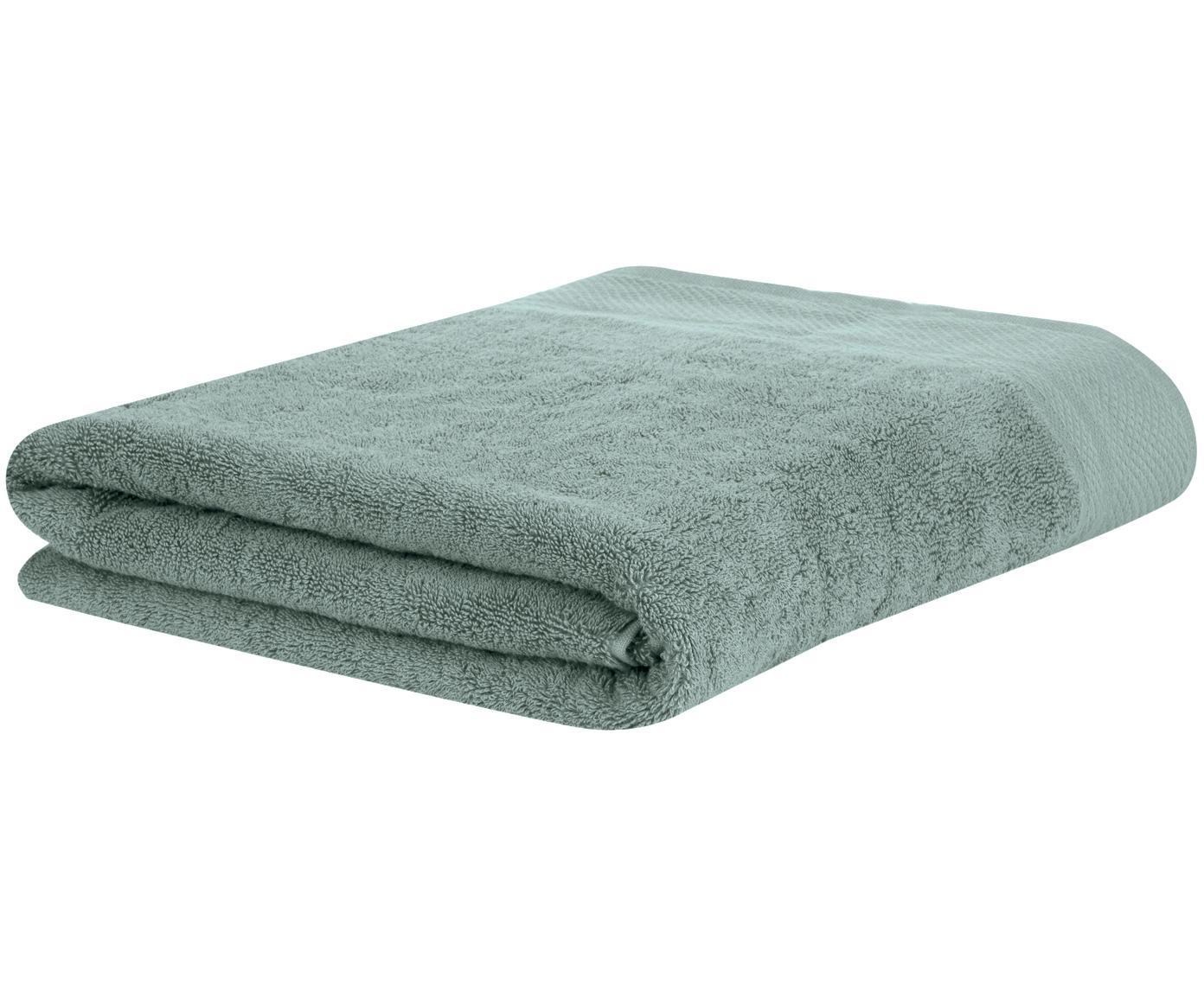 Ręcznik z lamówką Premium, Szałwiowy zielony, Ręcznik dla gości XS