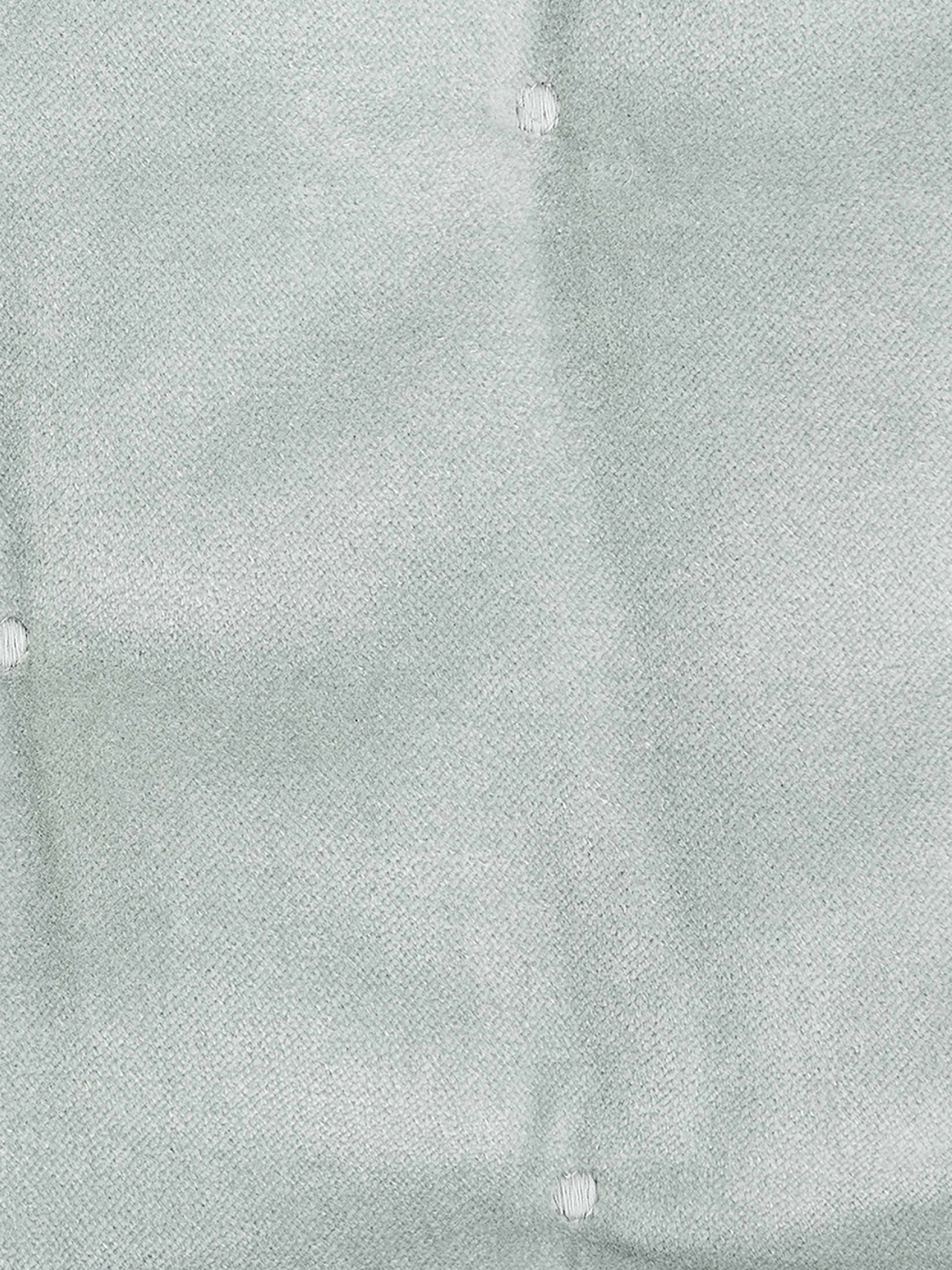 Watowana narzuta z aksamitu Cheryl, 100% bawełna, Szałwiowa zieleń, S 240 x D 250 cm