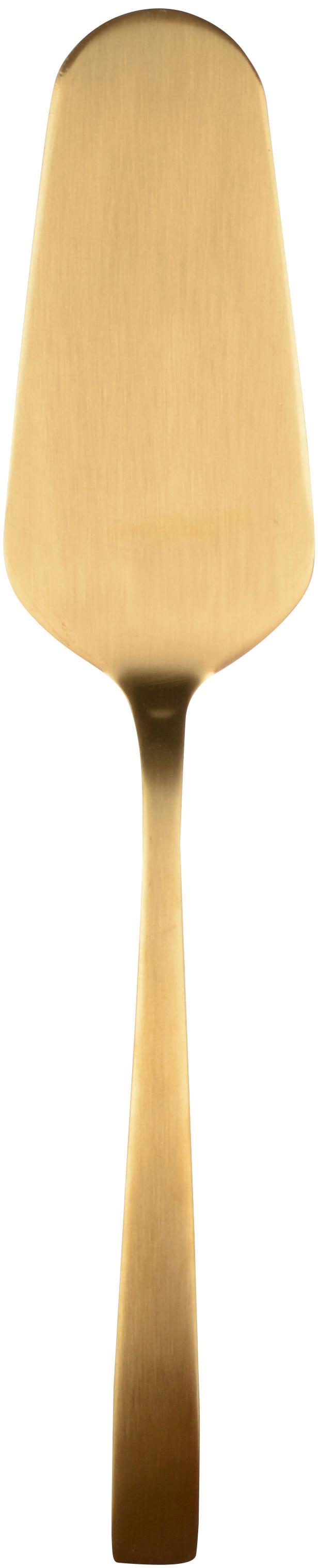 Goldfarbenes Tortenheber-Set Mat aus rostfreiem Stahl, 2-teilig, Rostfreier Stahl, beschichtet, Messingfarben, L 25 cm