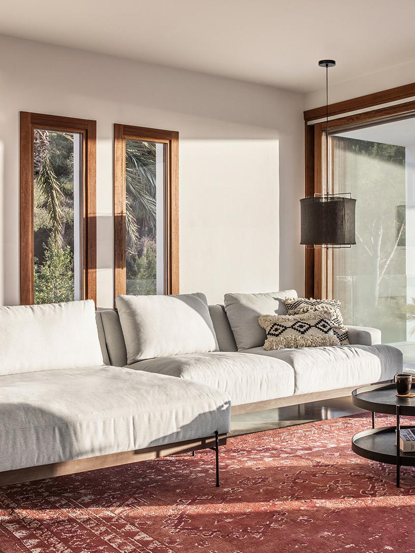 Canapé d'angleBrooks, Tissu beige