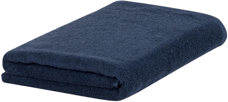 Eenkleurige handdoek Comfort, 100% katoen, middelzware kwaliteit, 450 g/m², Donkerblauw, Gastendoekje