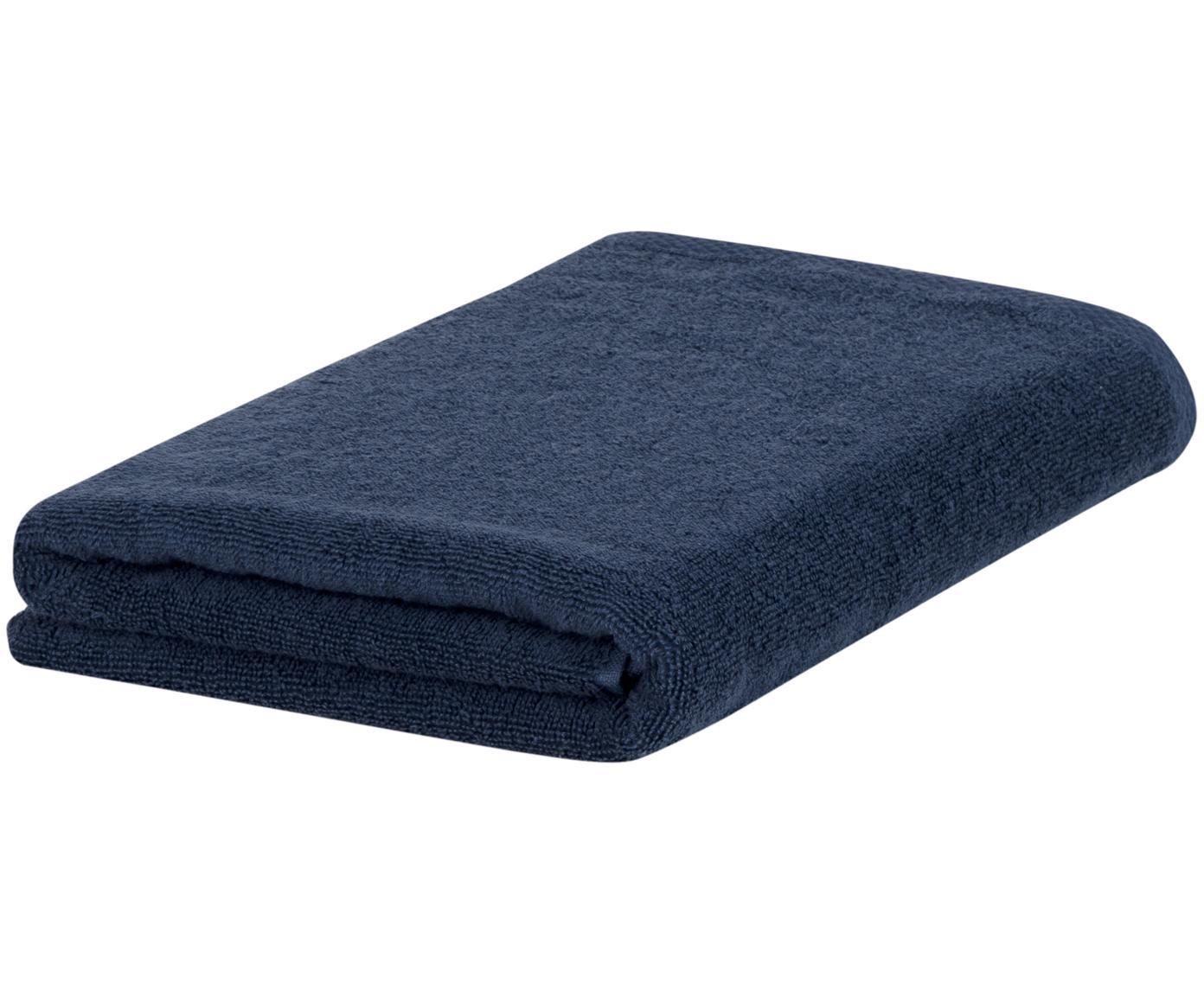 Asciugamano in tinta unita Comfort, Blu scuro, Asciugamano per ospiti