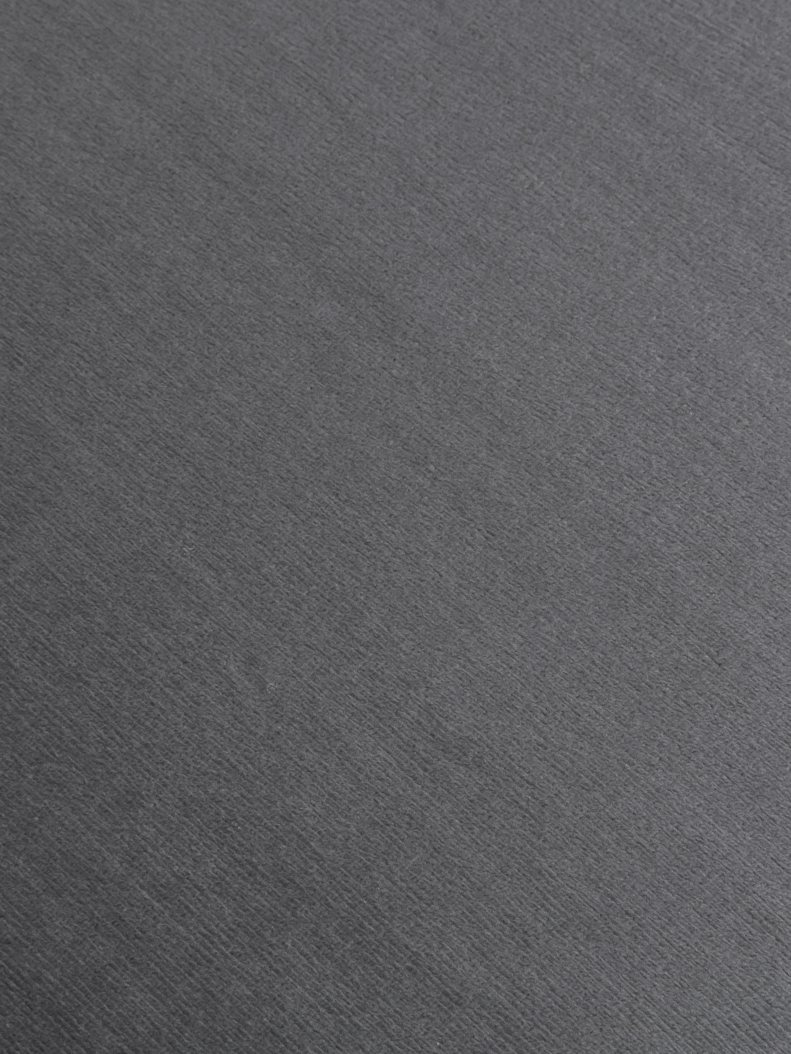 Silla con reposabrazos de terciopelo Rachel, Tapizado: terciopelo (poliéster) 50, Patas: metal con pintura en polv, Terciopelo gris oscuro, patas negro, An 47 x F 64 cm