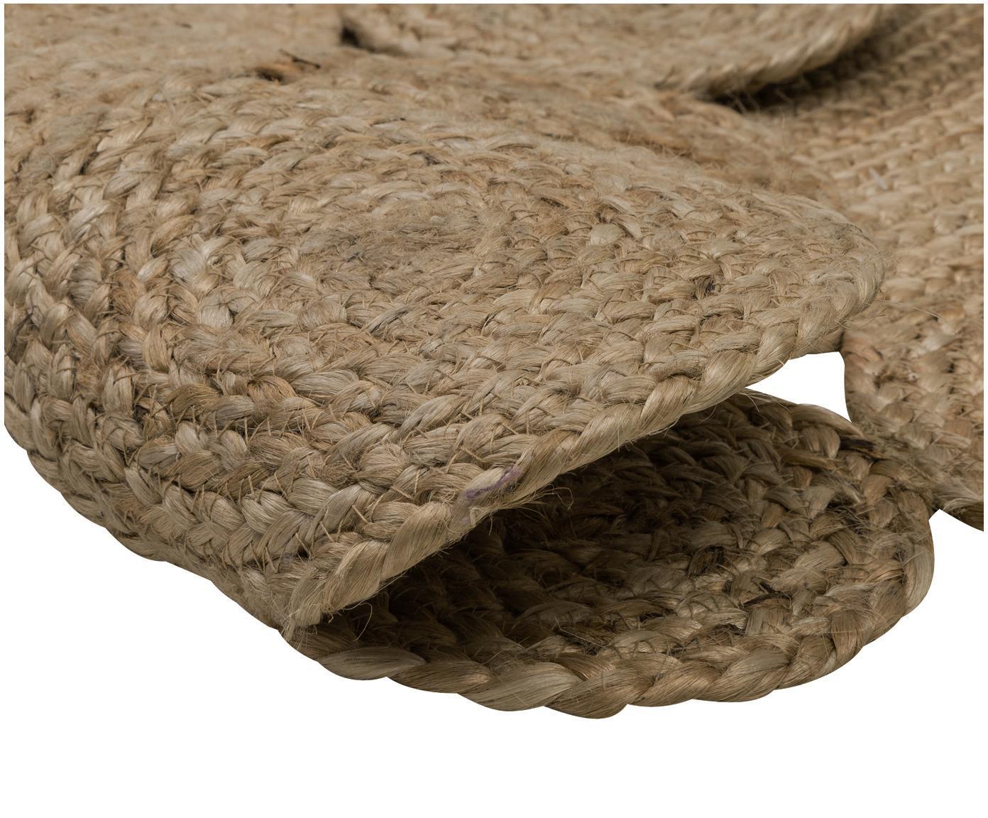 Tappeto rotondo in juta fatto a mano Niago, Beige, Ø 150 cm (taglia M)