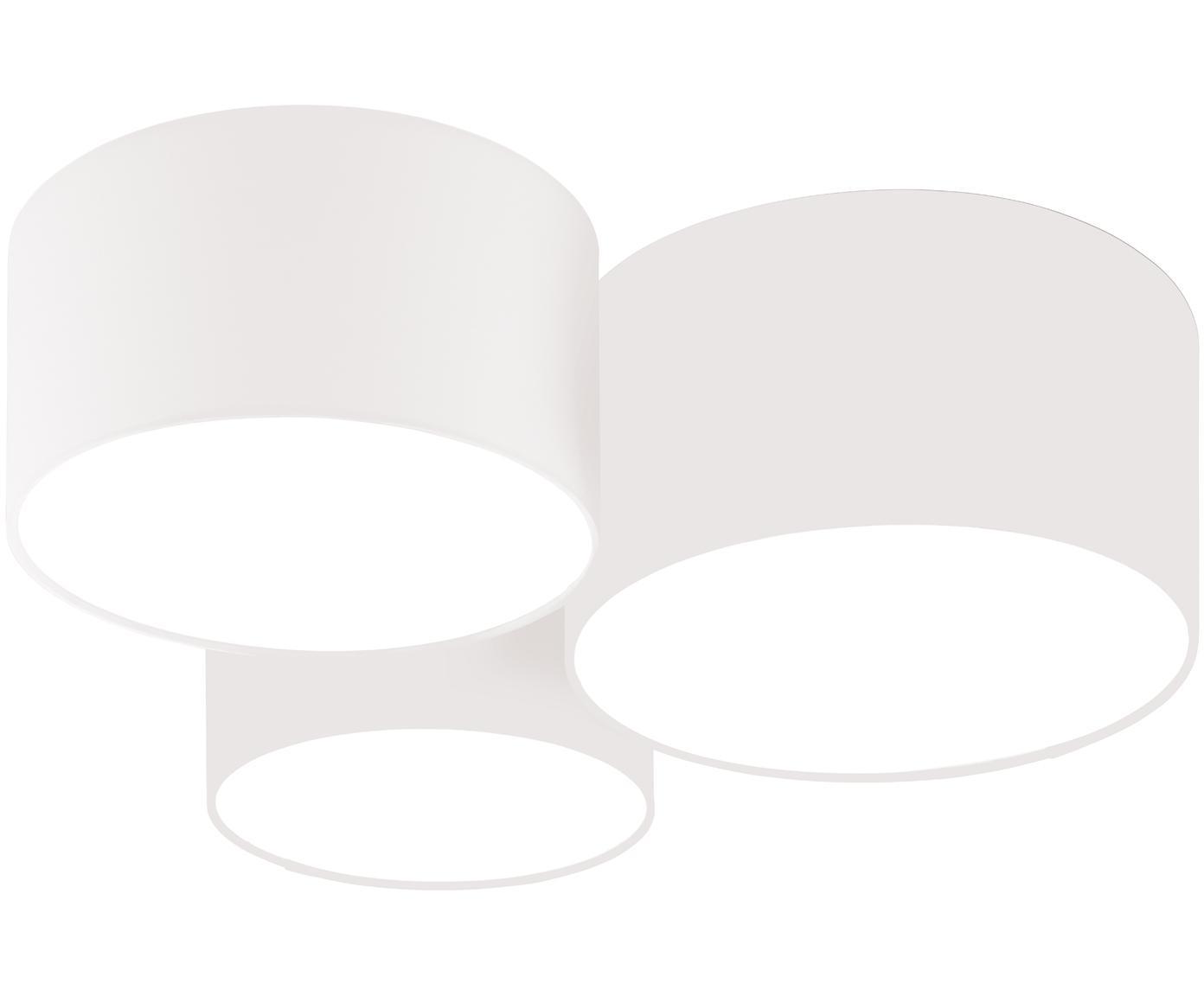 Plafón Luke, Anclaje: metal con pintura en polv, Blanco, Ø 61 x Al 26 cm