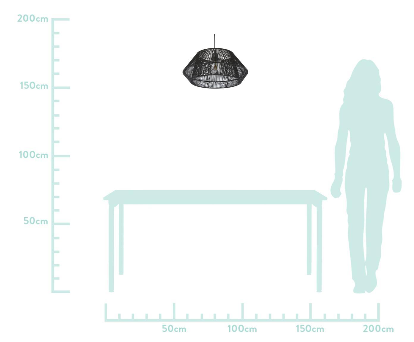 Lampa wisząca Hadi, Czarny, Ø 48 x W 22 cm