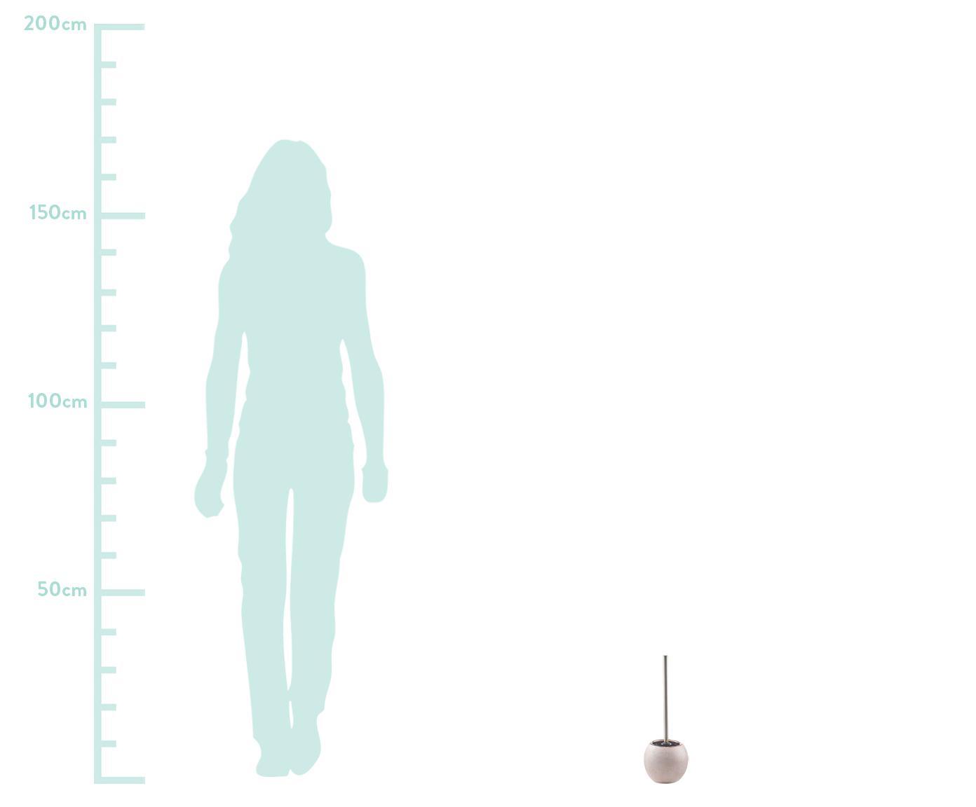 Toilettenbürste Glitter aus Steingut, Behälter: Steingut, Griff: Metall, Rosegoldfarben, Ø 12 x H 34 cm