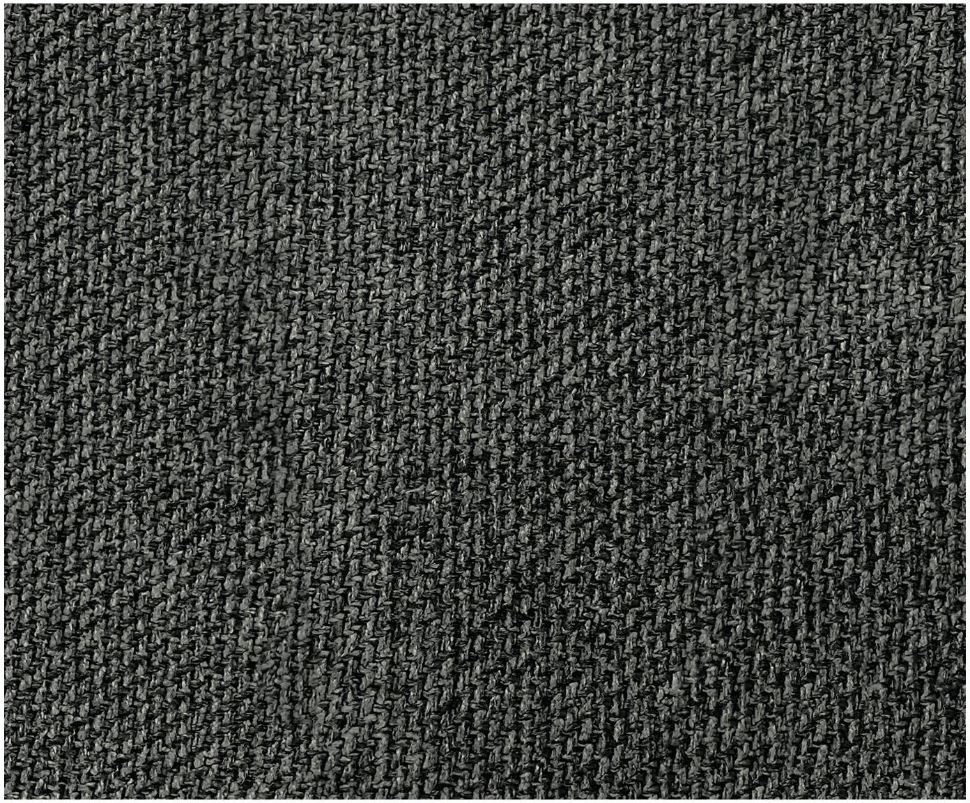 Puf Lennon, Tapicerka: poliester 35 000 cykli w , Stelaż: lite drewno sosnowe, skle, Nogi: tworzywo sztuczne, Antracytowy, S 88 x W 43 cm