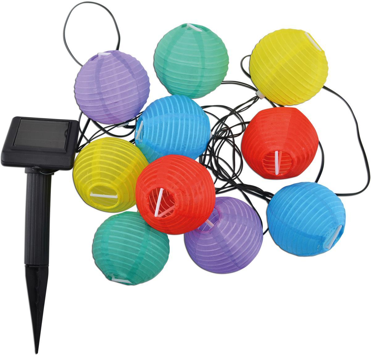 LED Lichterkette Lampion, 380 cm, Kunststoff, Mehrfarbig, L 380 cm