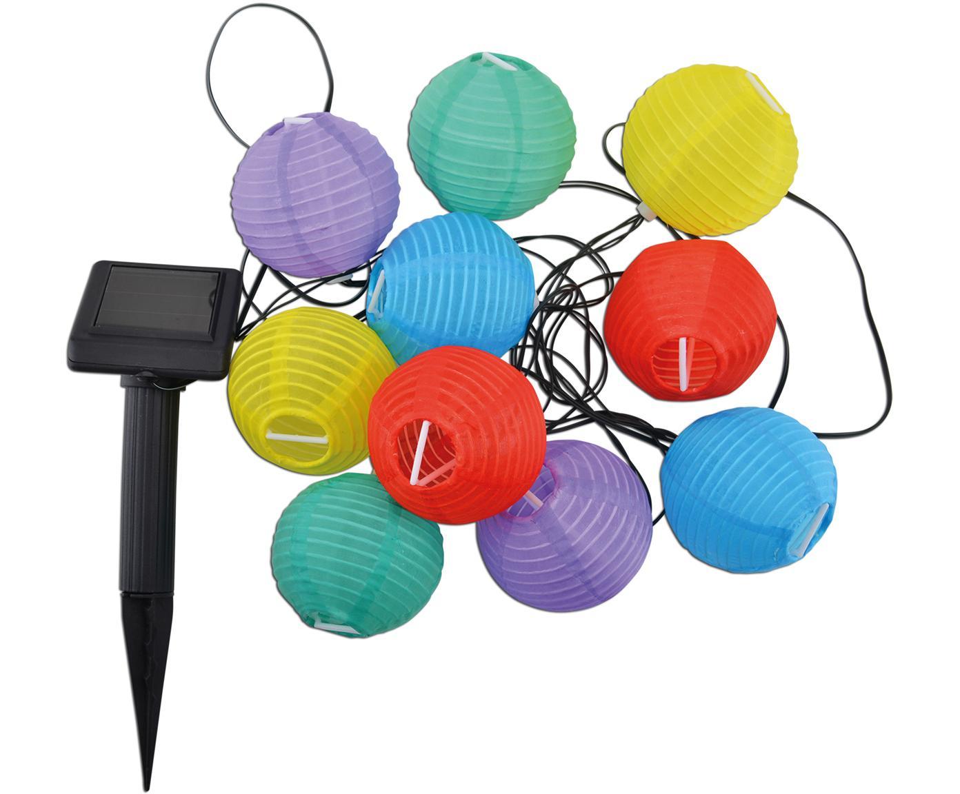 LED lichtslinger Lampion, Kunststof, Multicolour, L 380 cm