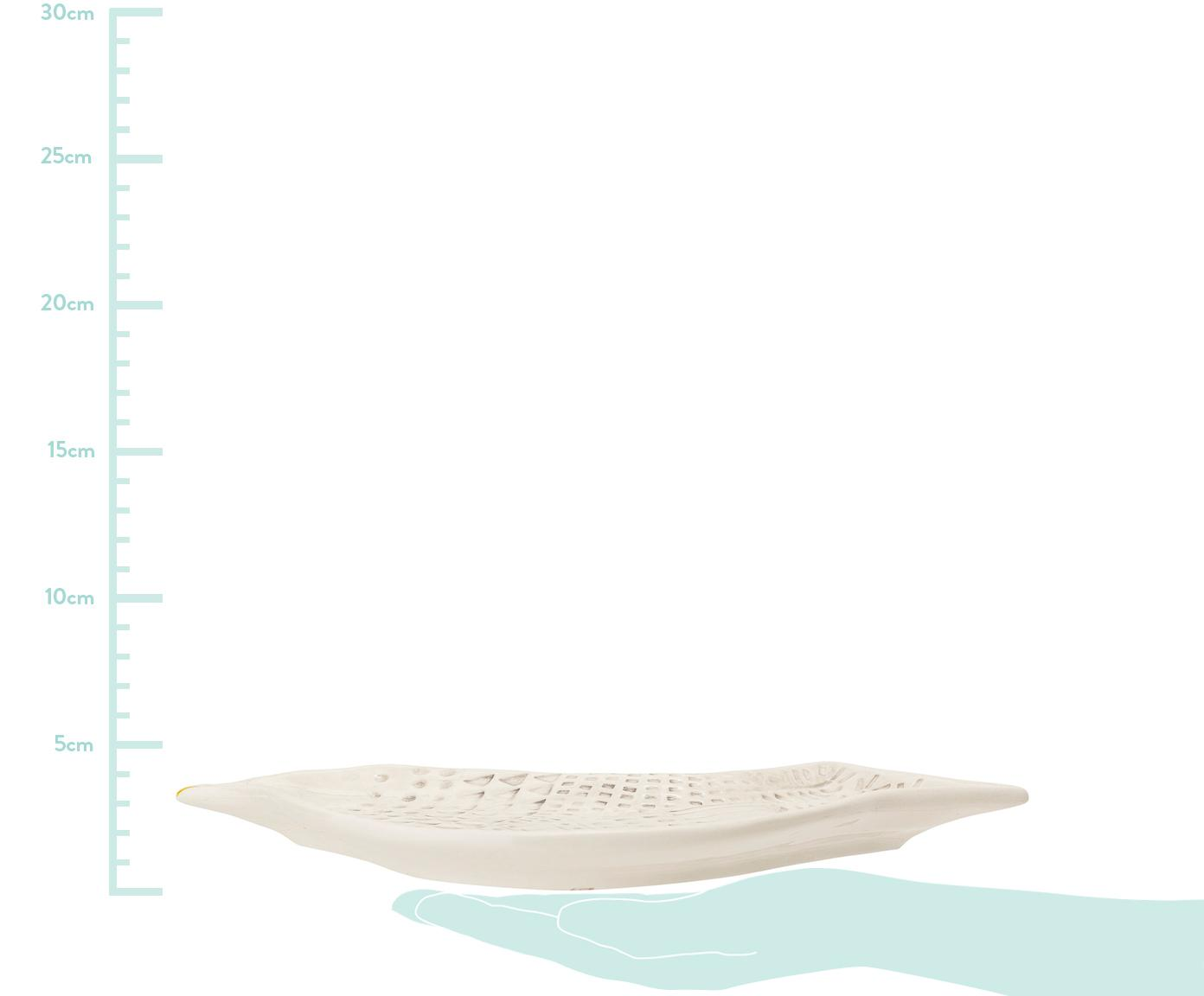 Tablett Tata, Dolomitstein, Keramik, Weiß, 18 x 29 cm