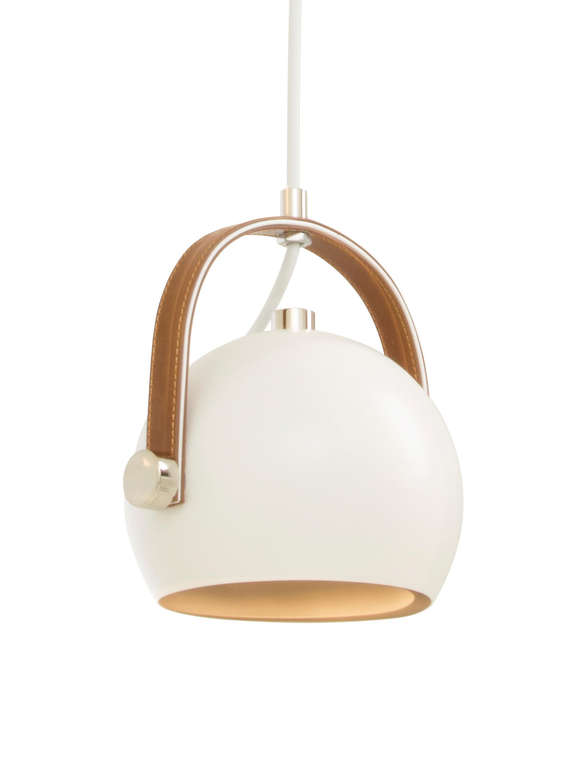 Lampada a sospensione regolabile Bow, Bianco, Larg. 19 x Alt. 20 cm
