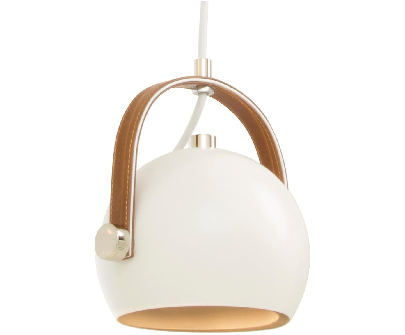 Mała lampa wisząca z regulacją wysokości Bow, Biały, S 19 x W 20 cm