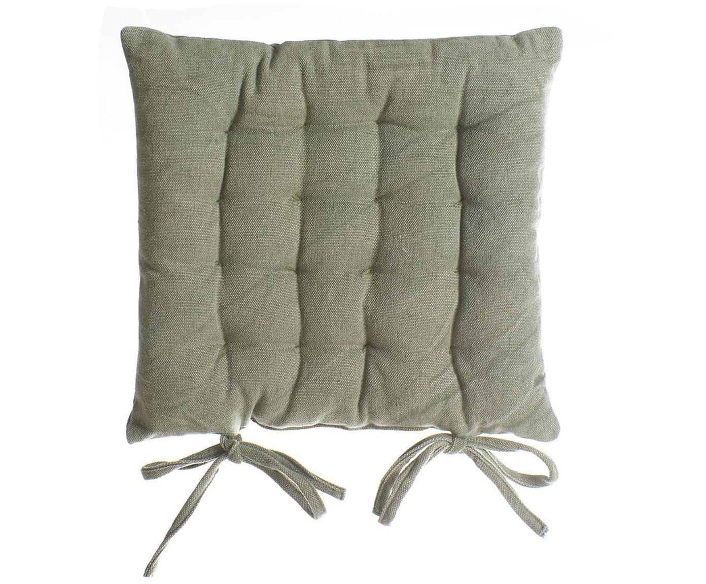 Cojín de asiento Benni, Funda: algodón, Verde, An 40 x L 40 cm