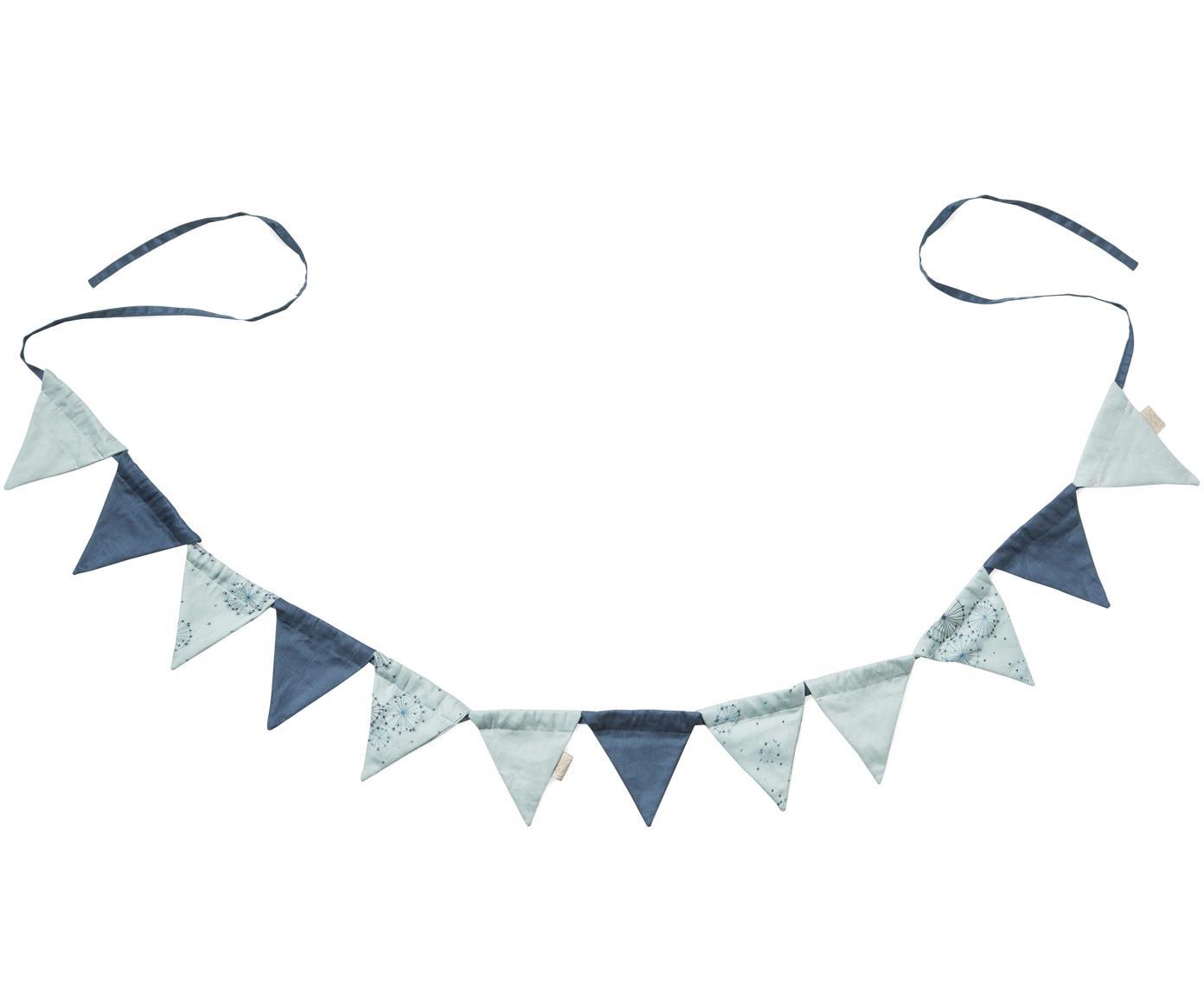 Slinger Flags, Organisch katoen, Blauwtinten, L 230 x H 10 cm