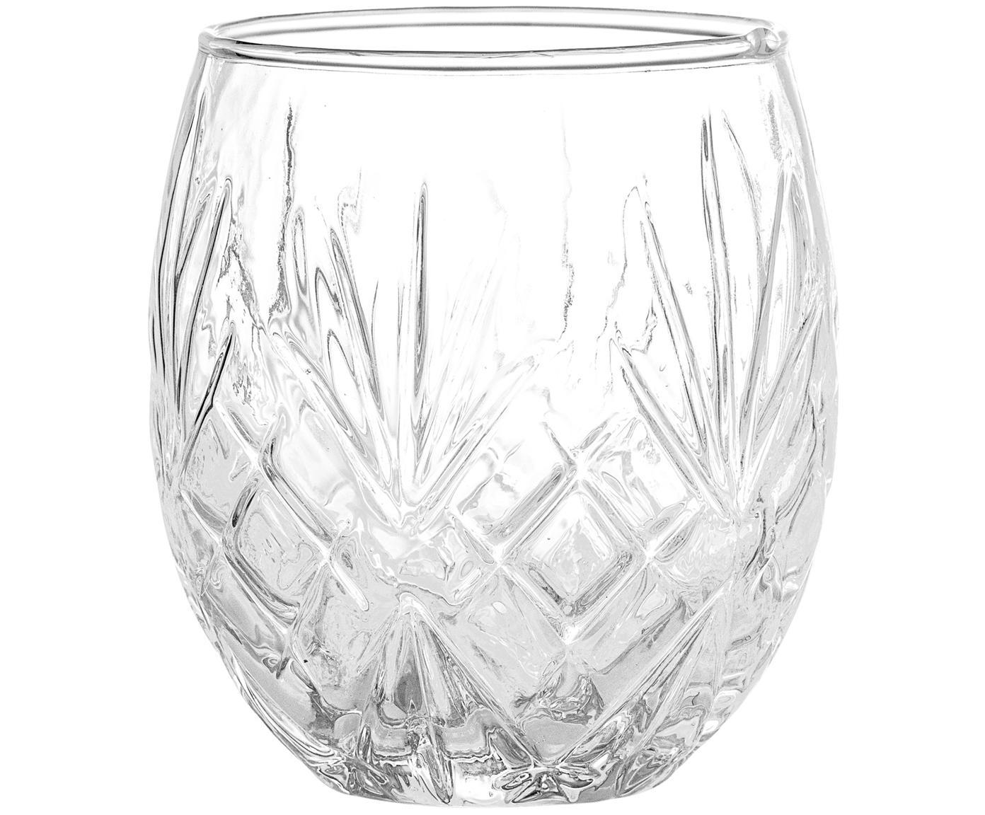 Glas-Zahnputzbecher Alice, Glas, Transparent, Ø 9 x H 10 cm
