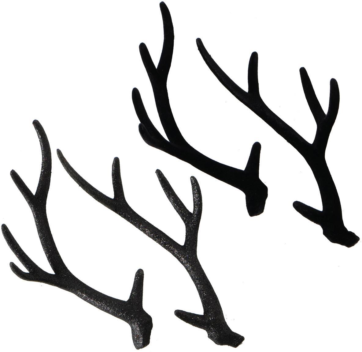 Set de piezas decorativas Crany, 2pzas., Plástico, Negro, An 16 x Al 30 cm