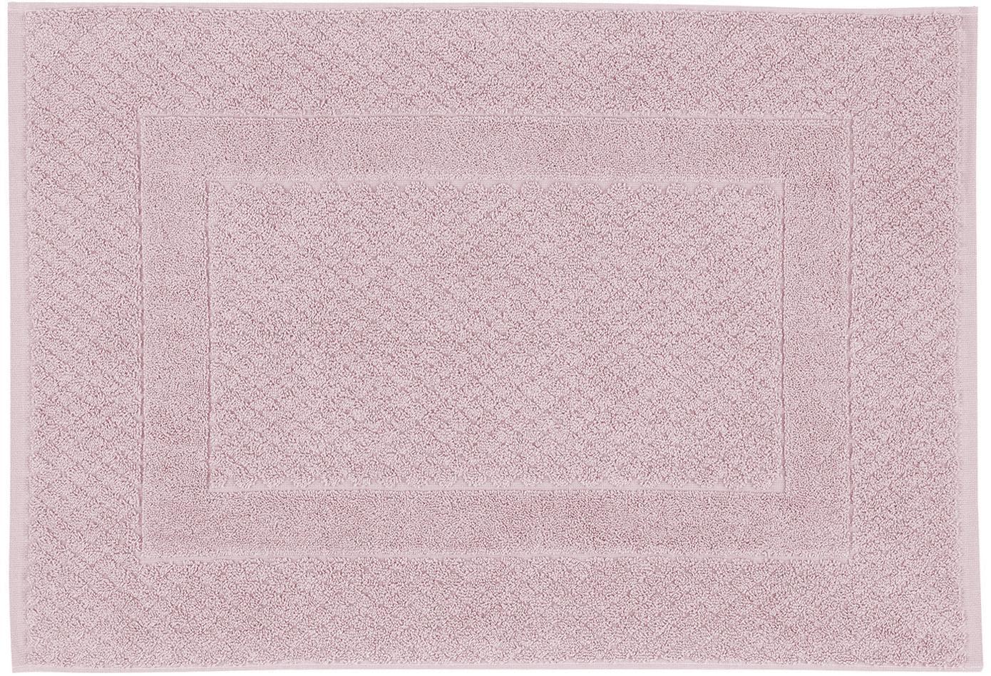 Badmat Katharina, 100% katoen, zware kwaliteit, 900 g/m², Oudroze, 50 x 70 cm