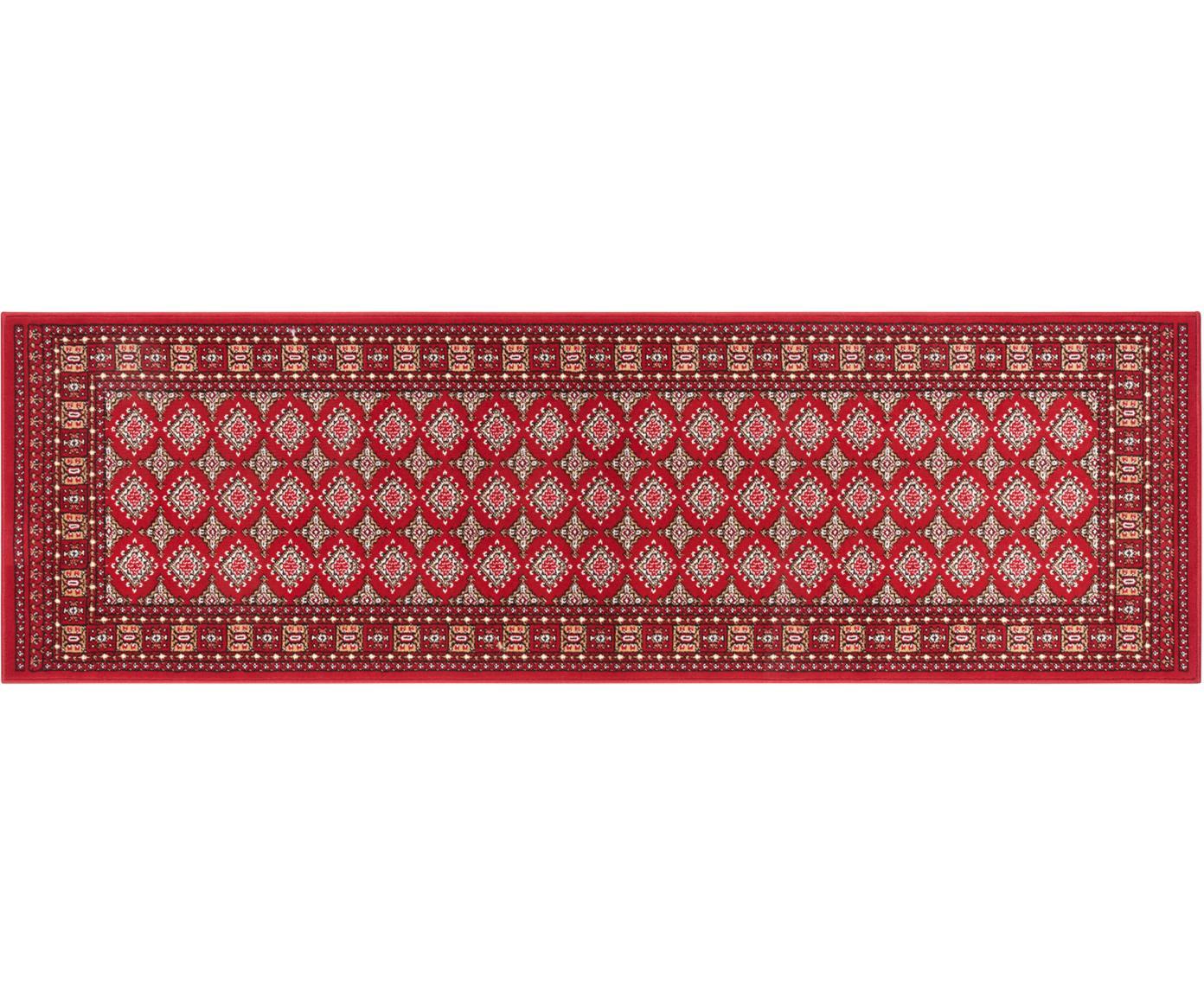 Loper Sao Buchara, Polypropyleen, Rood, 80 x 250 cm