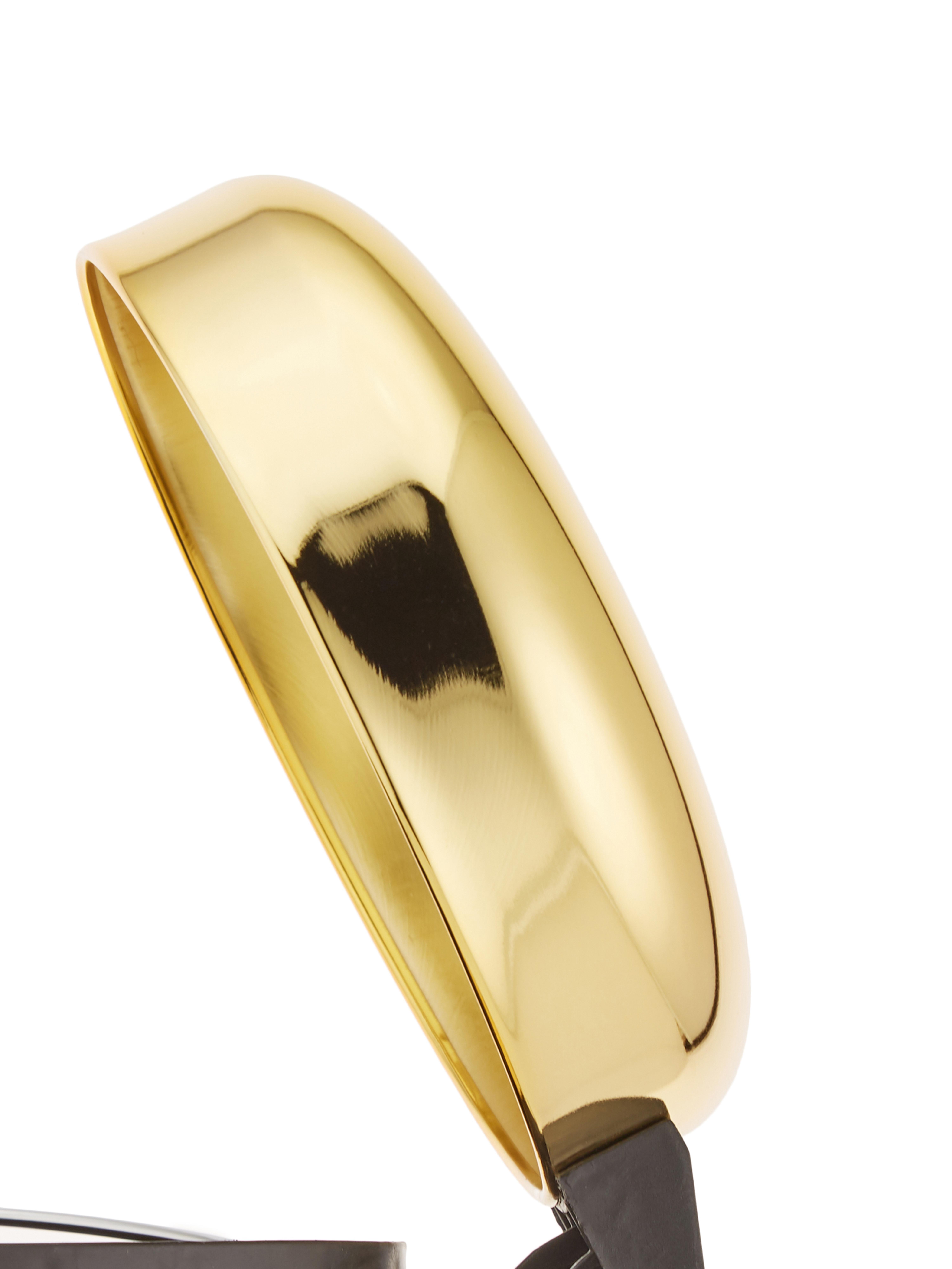 Abfalleimer Sam mit Pedal-Funktion, Goldfarben, Ø 22 x H 30 cm