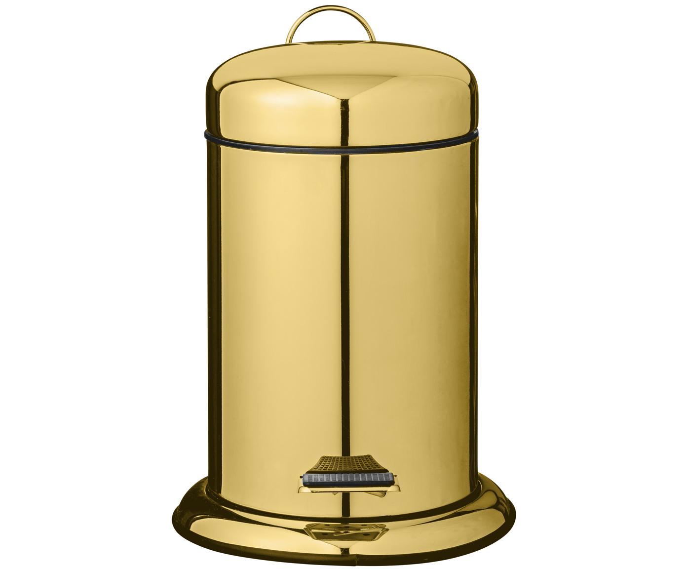 Papelera Sam, Interior: plástico, Dorado, Ø 22 x Al 30 cm
