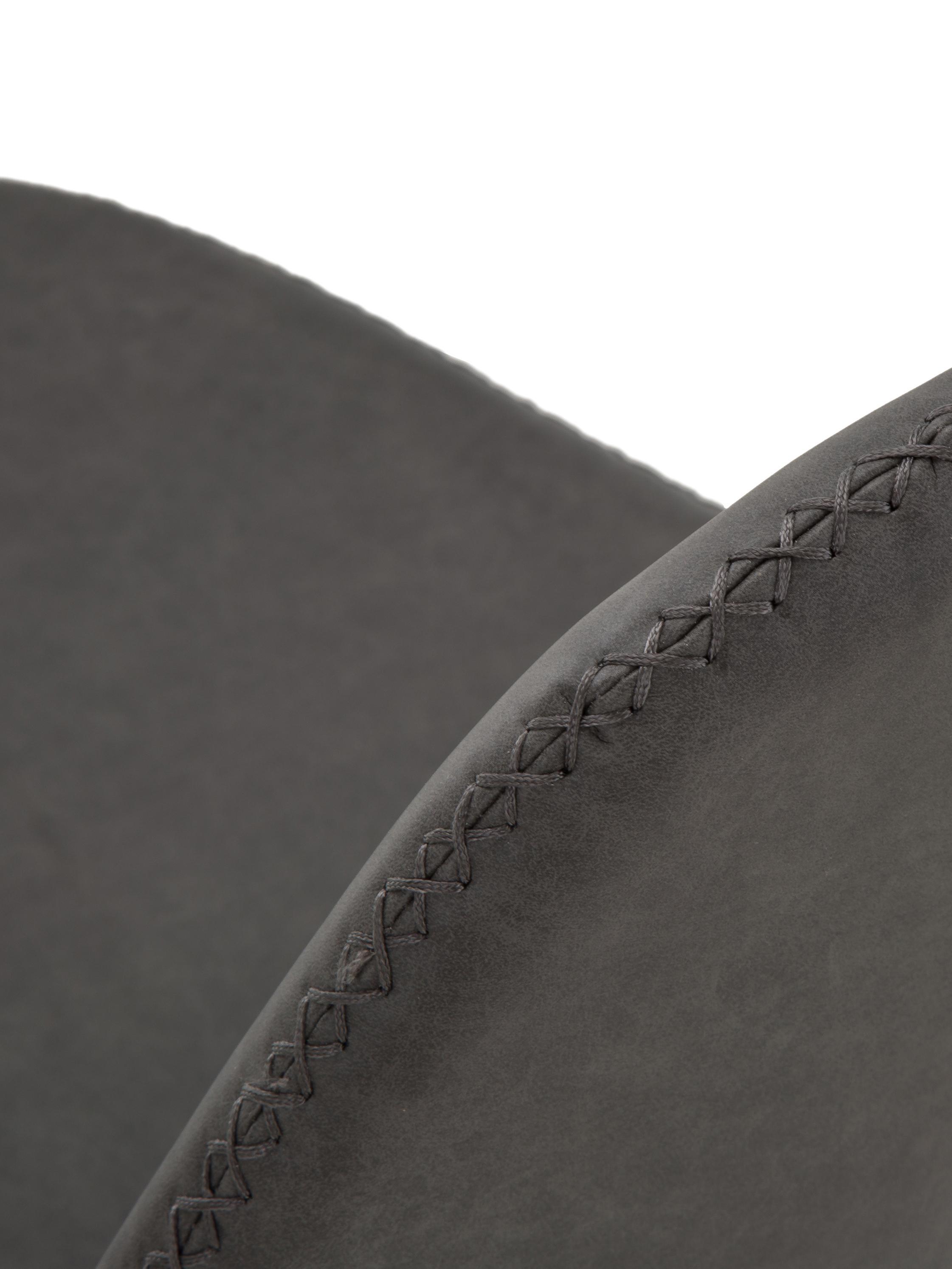 Kunstleder-Polsterstühle Linus, 2 Stück, Bezug: Kunstleder (65% Polyethyl, Beine: Metall, pulverbeschichtet, Dunkelgrau, B 41 x T 53 cm