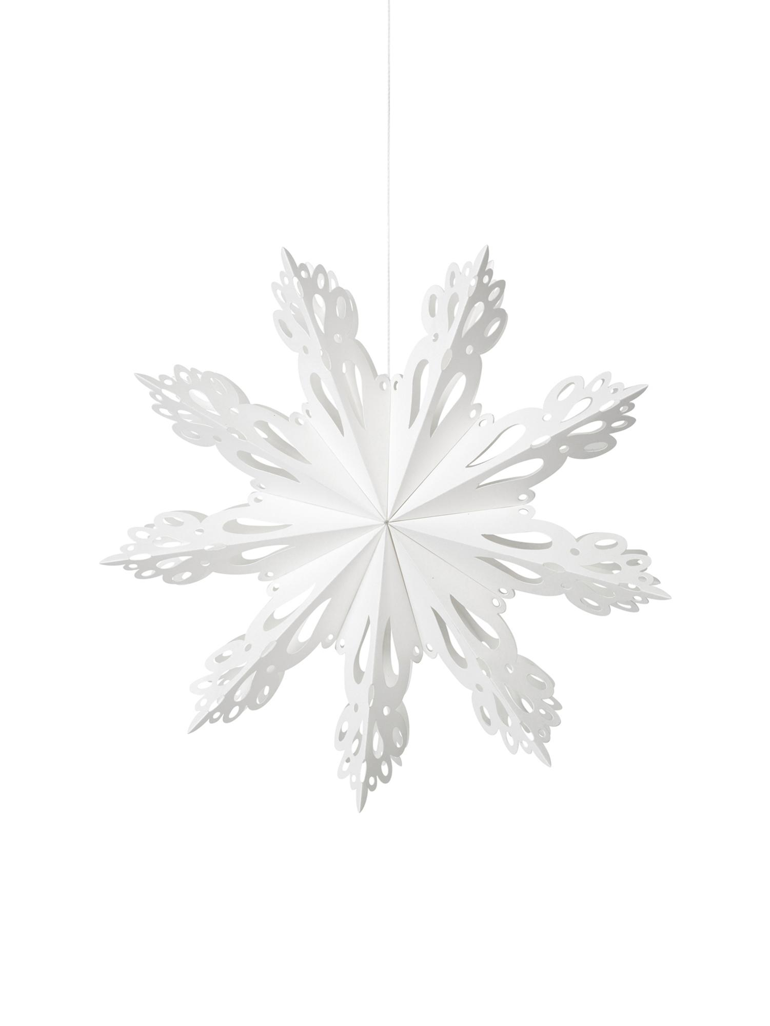 Adorno navideño XLSnowflake, Papel, Blanco, Ø 30 cm