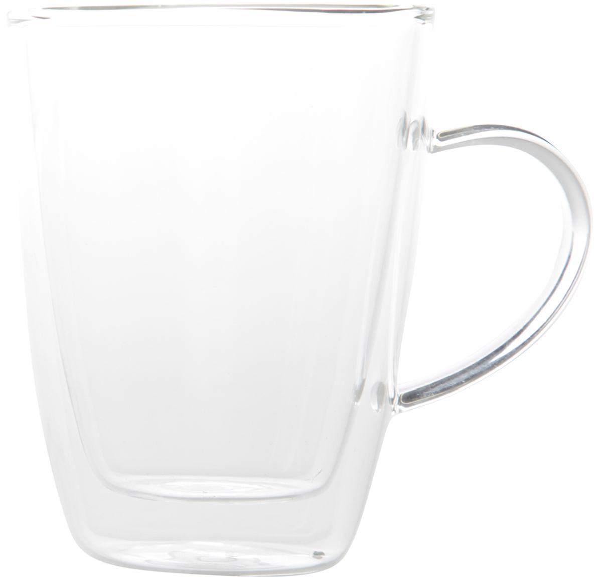 Szklanka termiczna z podwójną ścianką Isolate, 2 szt., Szkło borokrzemowe, Transparentny, Ø 9 x W 12 cm