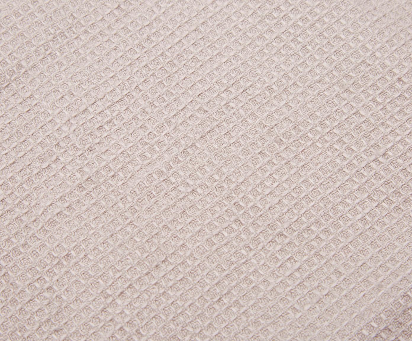 Leichtes Leinen-Handtuch Java in verschiedenen Größen, Waffelpiqué, Beige, Gästehandtuch