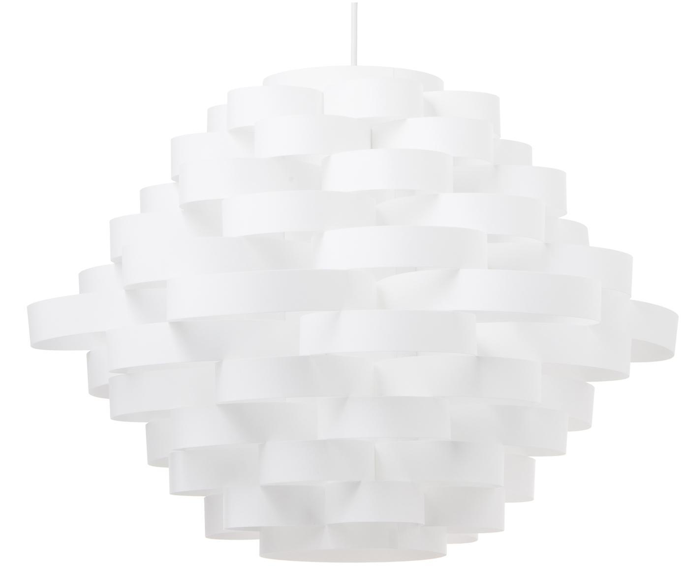 Lampada a sospensione Weave, Materiale sintetico, Bianco, Ø 55 x Alt. 40 cm