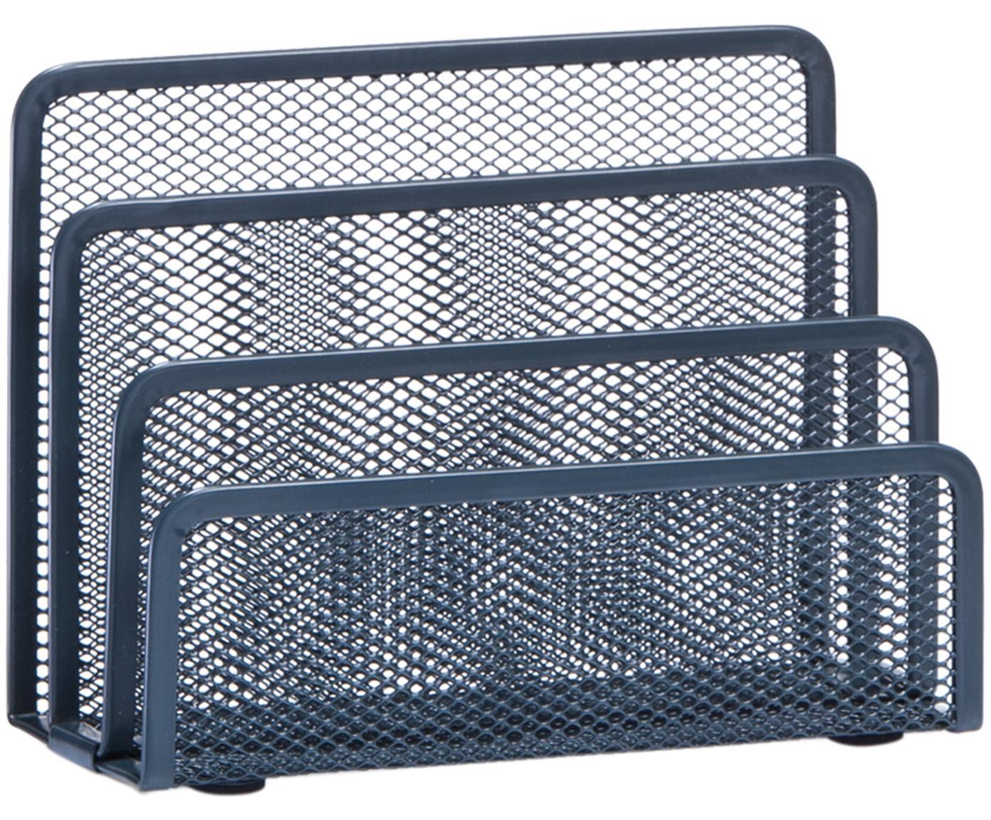 Portariviste Hica, Metallo verniciato a polvere, Antracite, Larg. 17 x Alt. 14 cm