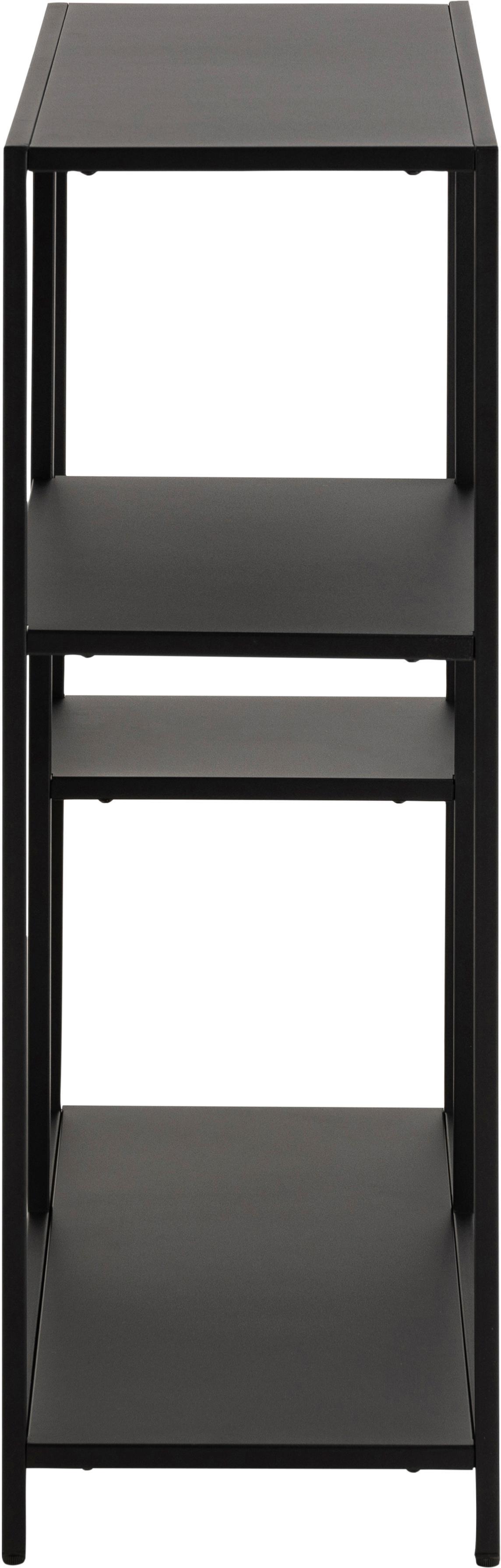 Libreria in metallo in nero Newton, Metallo verniciato a polvere, Nero, Larg. 80 x Alt. 86 cm