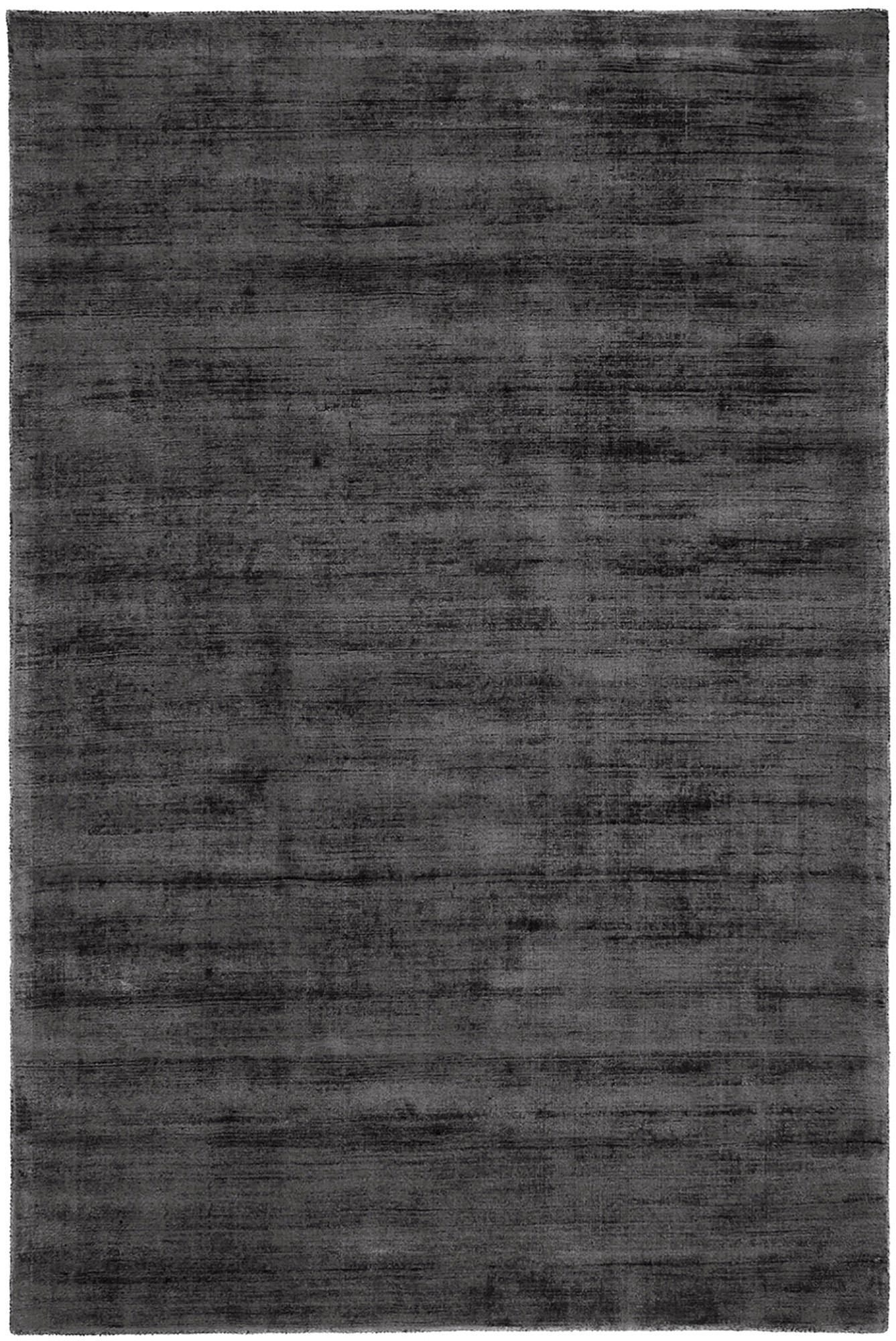 Ręcznie tkany dywan z wiskozy Jane, Antracytowoczarny, S 200 x D 300 cm (Rozmiar L)