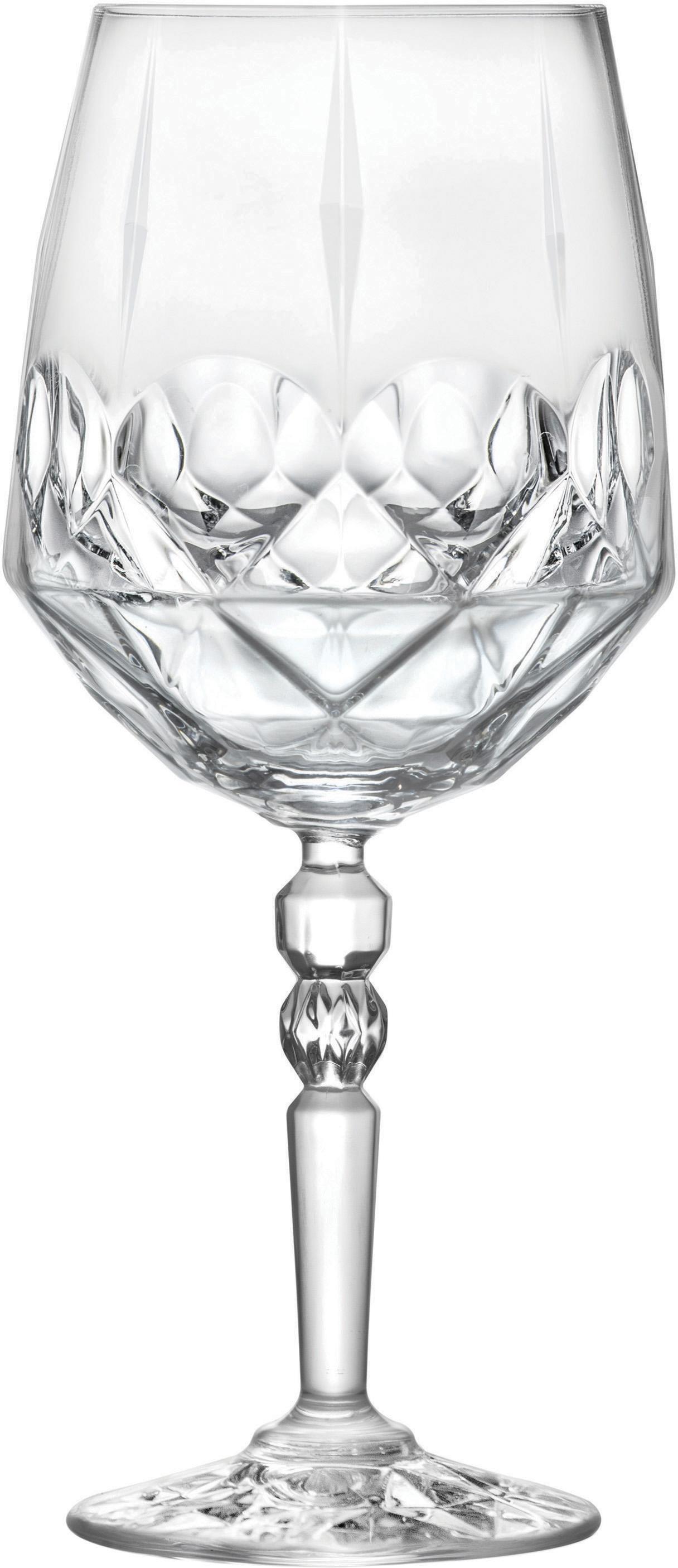 Bicchiere da vino bianco in cristallo Calicia 6 pz, Cristallo, Trasparente, Ø 10 x Alt. 23 cm